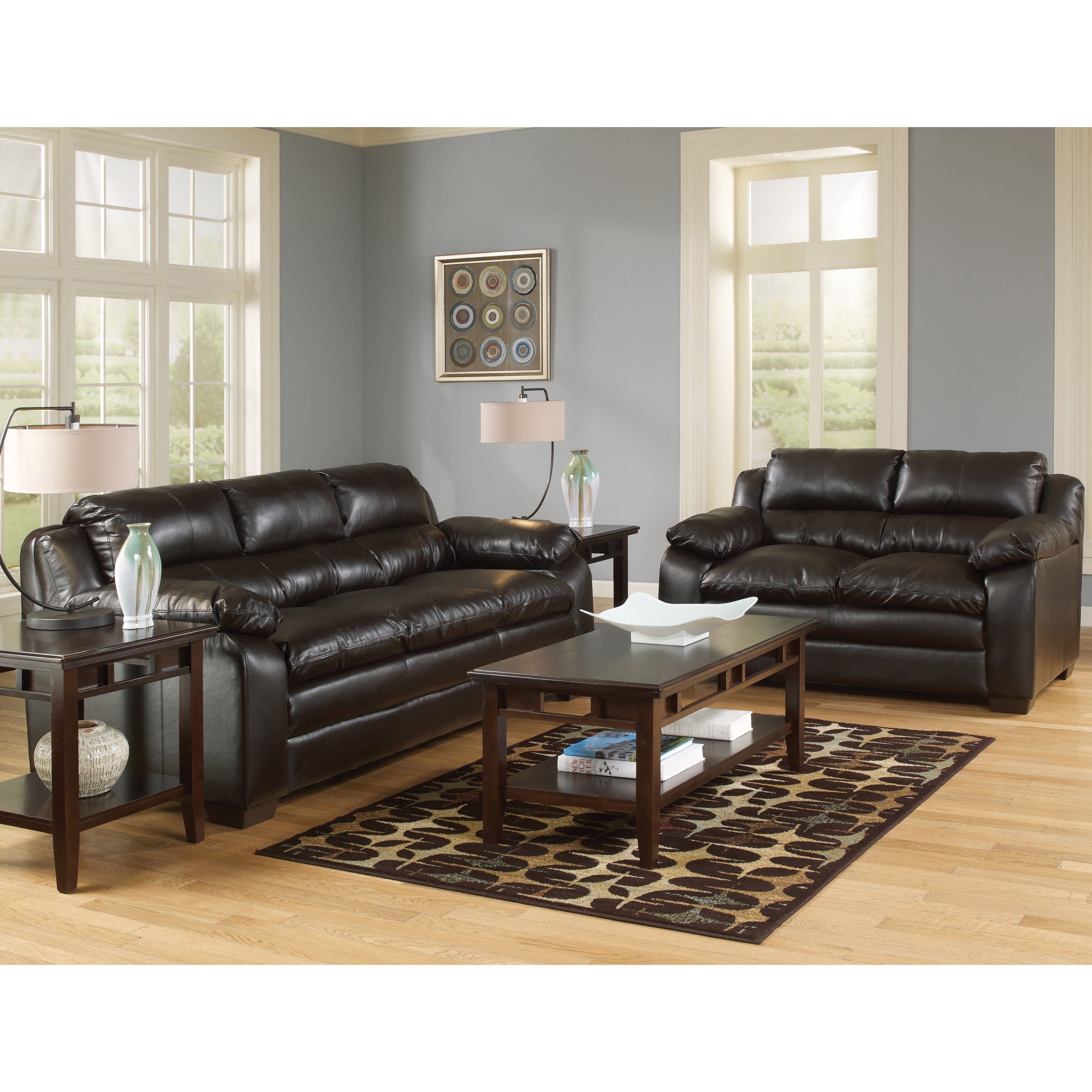 Shop Art Van Maddox Espresso Sofa And Loveseat Set – Free Shipping In Maddox Oversized Sofa Chairs (Image 19 of 25)