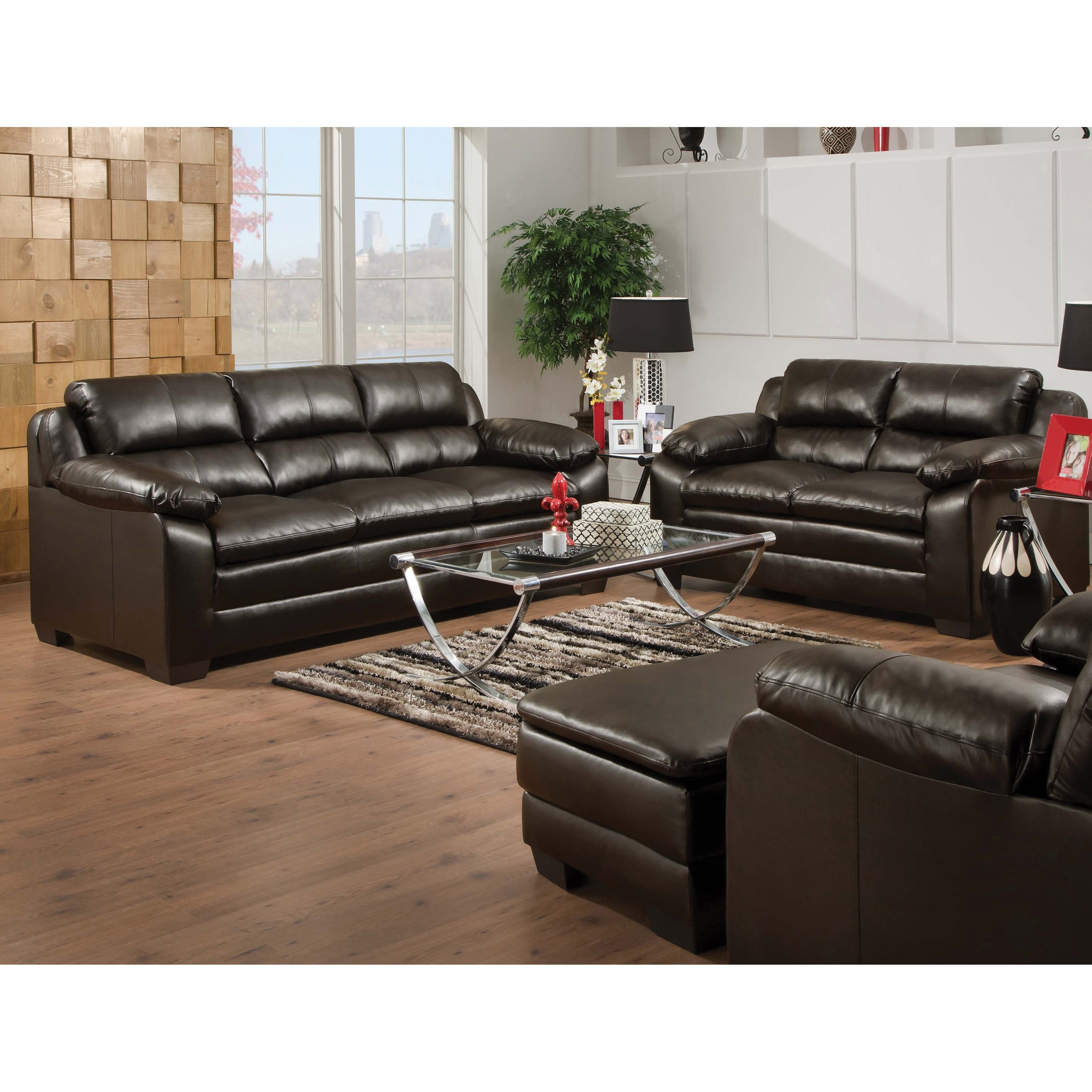 Shop Art Van Maddox Espresso Sofa And Loveseat Set – Free Shipping Inside Maddox Oversized Sofa Chairs (Image 20 of 25)