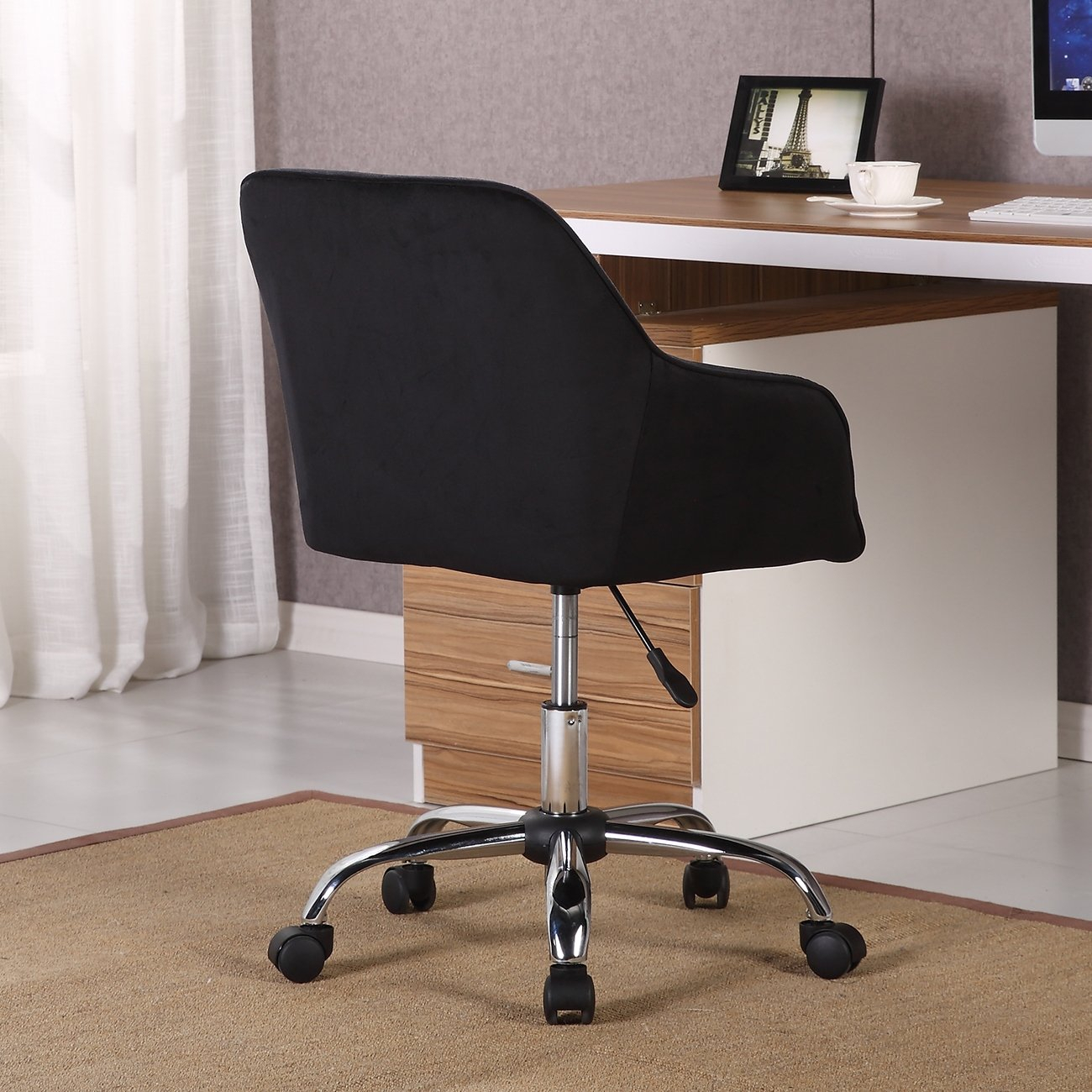 Shop Belleze Modern Office Chair Task Desk Adjustable Swivel Height For Katrina Blue Swivel Glider Chairs (View 22 of 25)