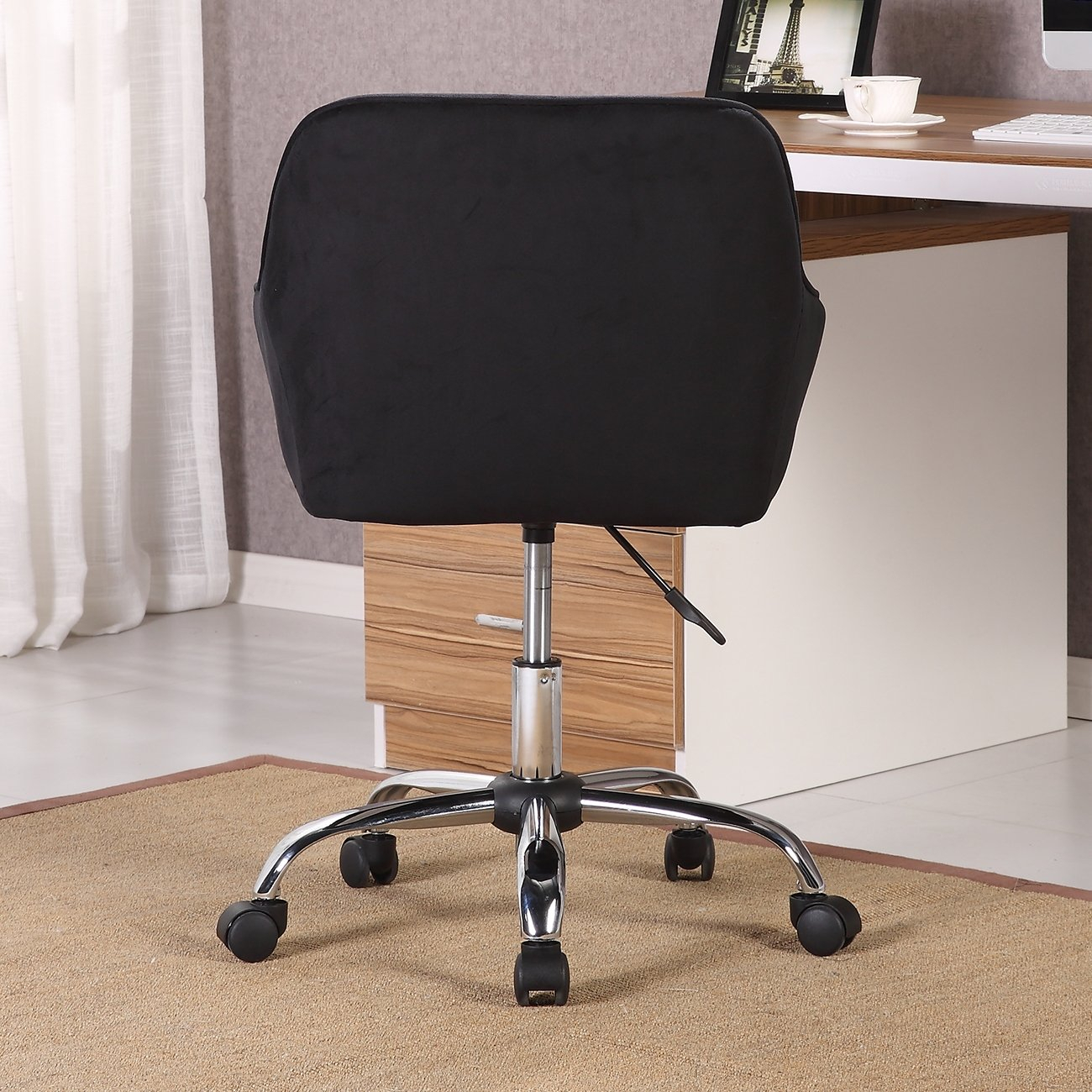 Shop Belleze Modern Office Chair Task Desk Adjustable Swivel Height Intended For Katrina Blue Swivel Glider Chairs (View 15 of 25)