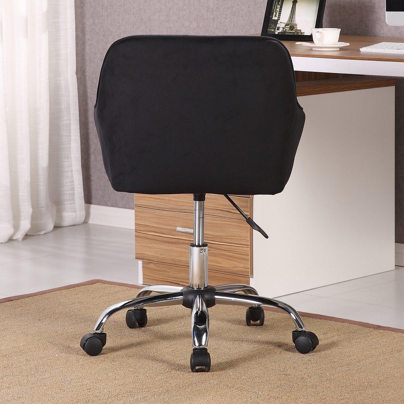 Shop Belleze Modern Office Chair Task Desk Adjustable Swivel Height Intended For Katrina Blue Swivel Glider Chairs (Image 20 of 25)
