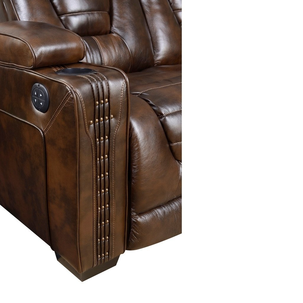 Shop Bowman Leather Recliner Chair With Articulating Headrest – Free Within Dale Iii Polyurethane Swivel Glider Recliners (View 20 of 25)
