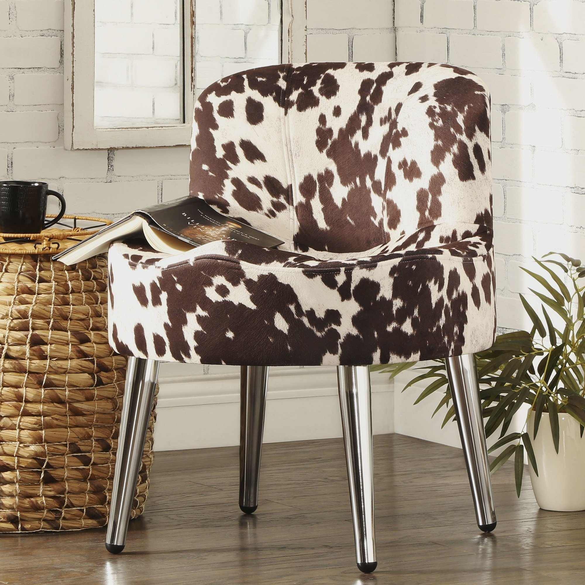 Shop Bridgeport Ergonomic Cow Print Accent Chair – Free Shipping For Circuit Swivel Accent Chairs (View 25 of 25)