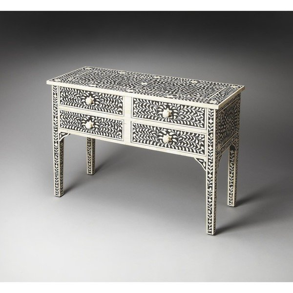 Featured Image of Black And White Inlay Console Tables