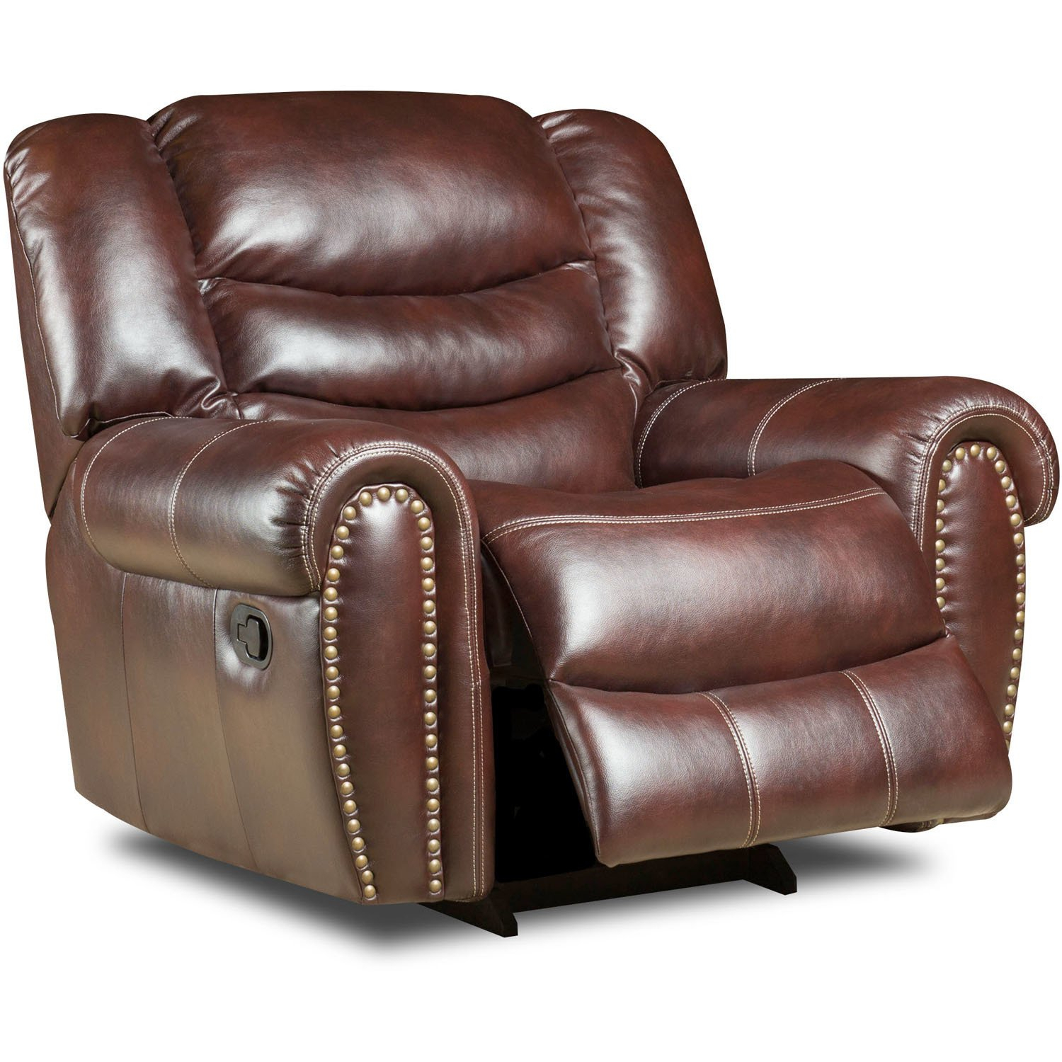 Shop Cambridge Lancaster Burgundy Fabric Glider Recliner – Free Throughout Gannon Linen Power Swivel Recliners (View 23 of 25)
