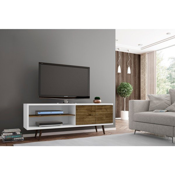 Shop Carson Carrington Sortland Wooden Modern Tv Stand – On Sale Within Recent Century Blue 60 Inch Tv Stands (View 16 of 25)