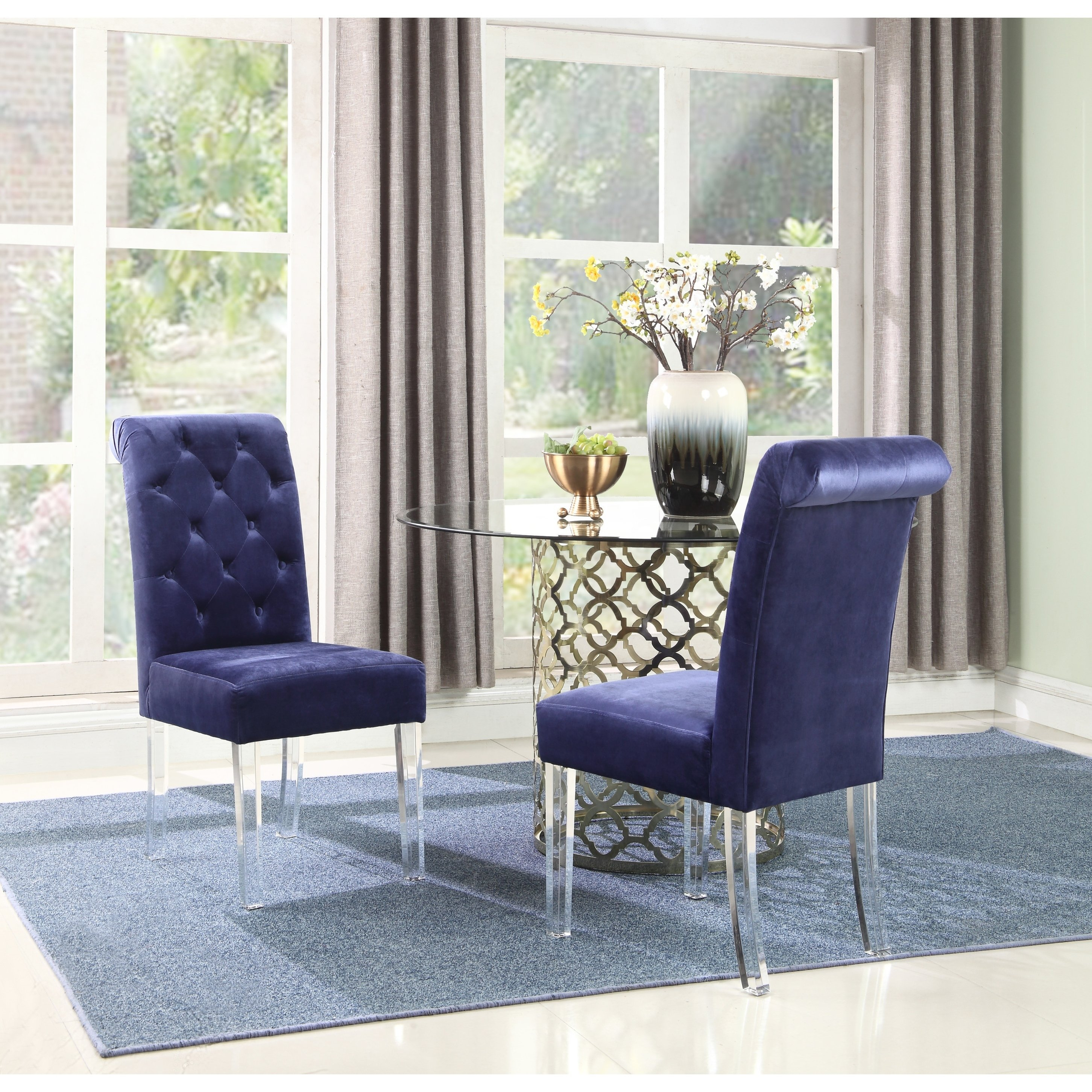 Shop Chic Home Tate Velvet Upholstered Dining Chair,set Of 2 – Free Within Tate Ii Sofa Chairs (Image 16 of 25)