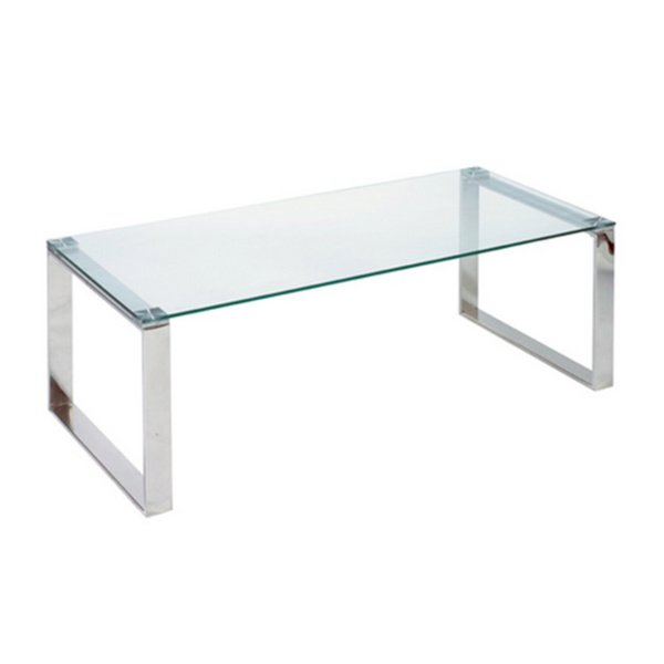 Shop Cortesi Home Remi Contemporary Chrome Glass Coffee Table – Free With Regard To Widely Used Remi Console Tables (View 9 of 25)