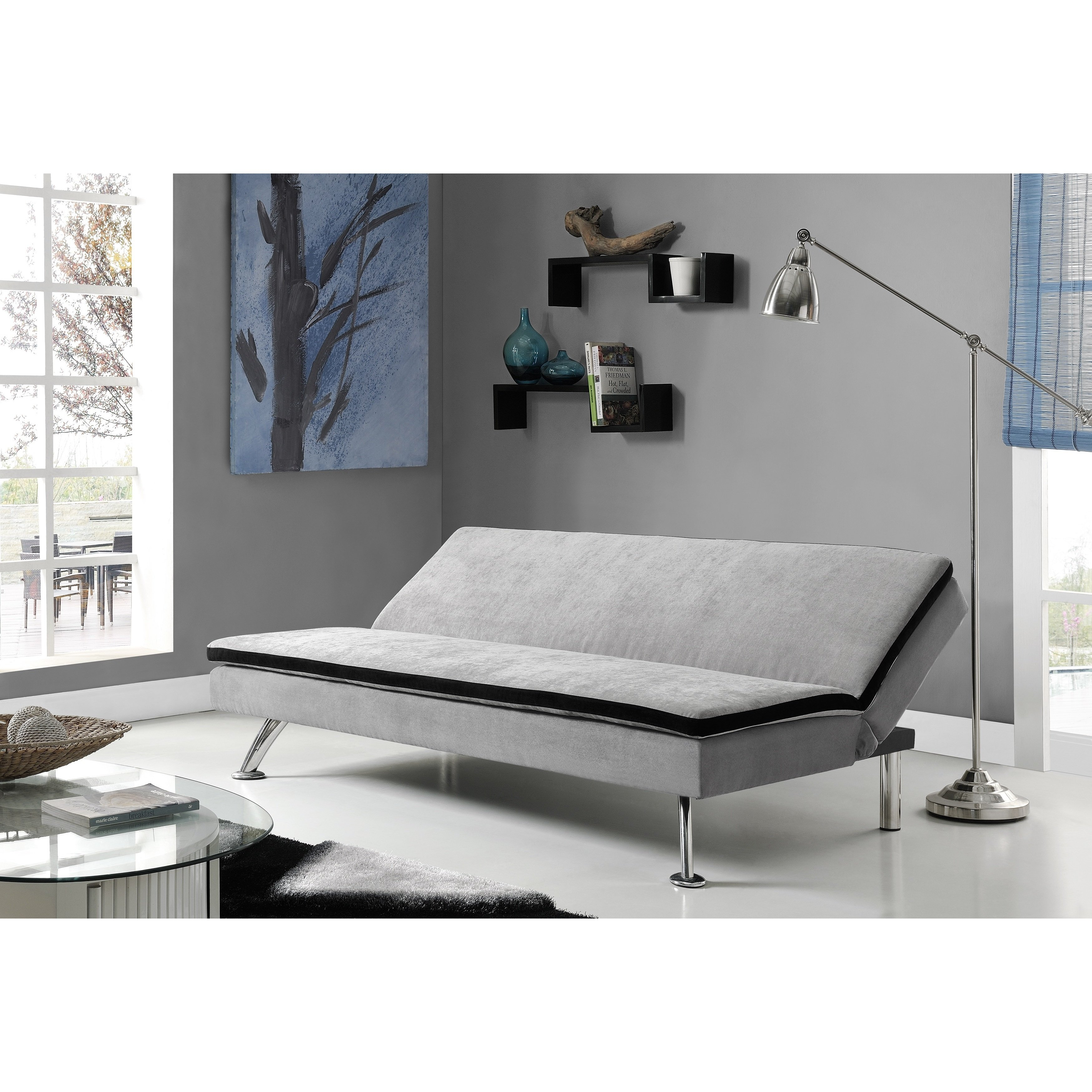 Shop Dhp Maddox Futon Sofa Sleeper – Free Shipping Today – Overstock Pertaining To Maddox Oversized Sofa Chairs (Image 21 of 25)