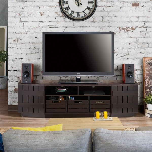Shop Furniture Of America Harla Rustic 70 Inch Tv Stand With Inside 2017 Casey Grey 54 Inch Tv Stands (Image 15 of 25)