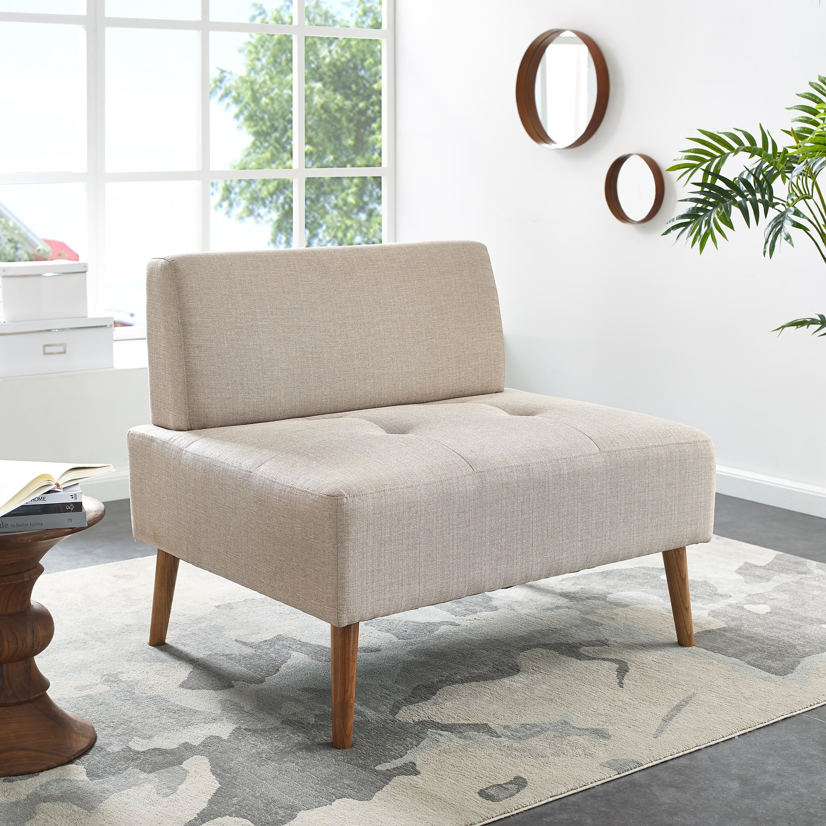 Shop Harper Blvd Altus Armless Chair And A Half – On Sale – Free Regarding Harper Down Oversized Sofa Chairs (View 10 of 25)