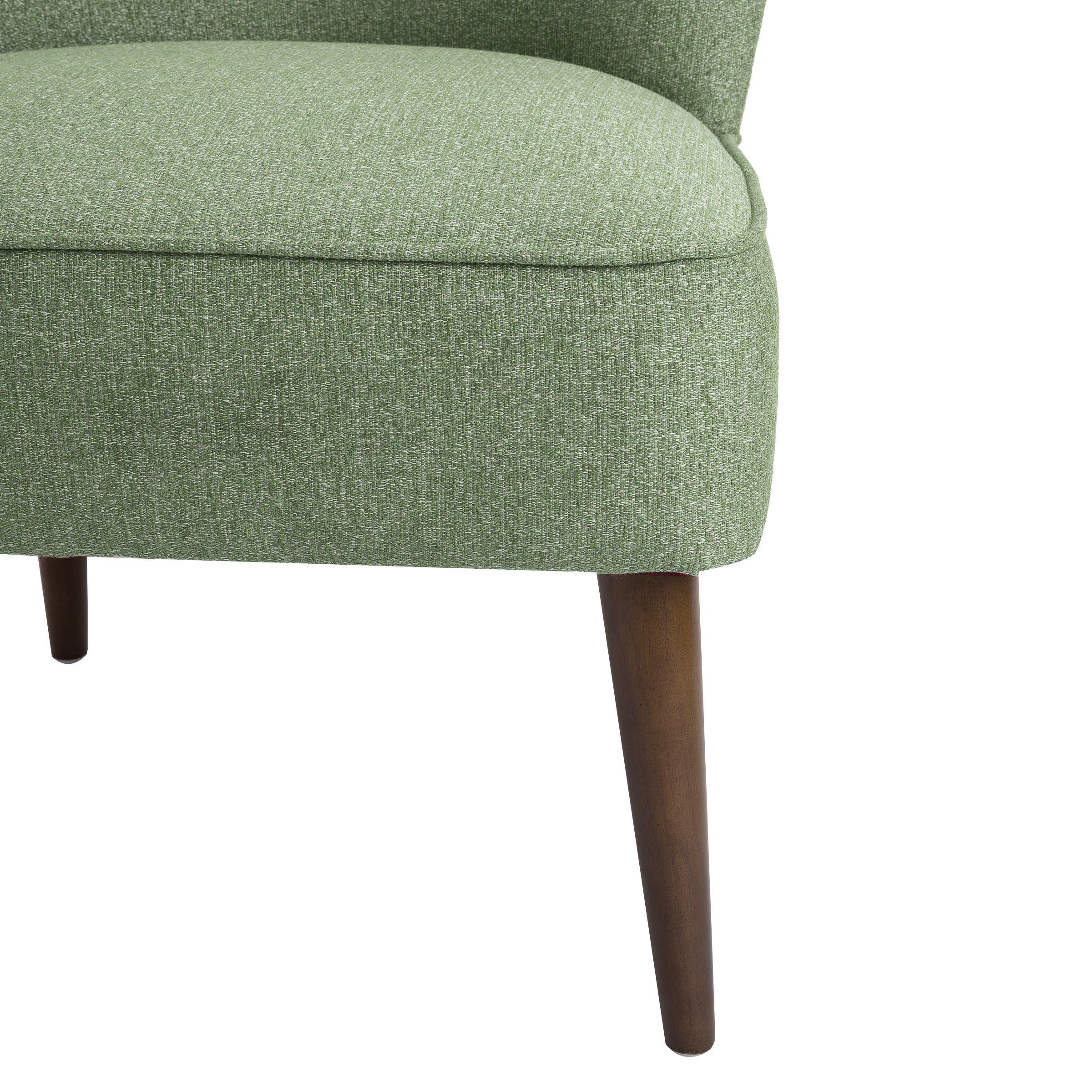 Shop Homepop Chadwick Armless Accent Chair – Teal – On Sale – Free Inside Chadwick Gunmetal Swivel Chairs (Image 20 of 25)
