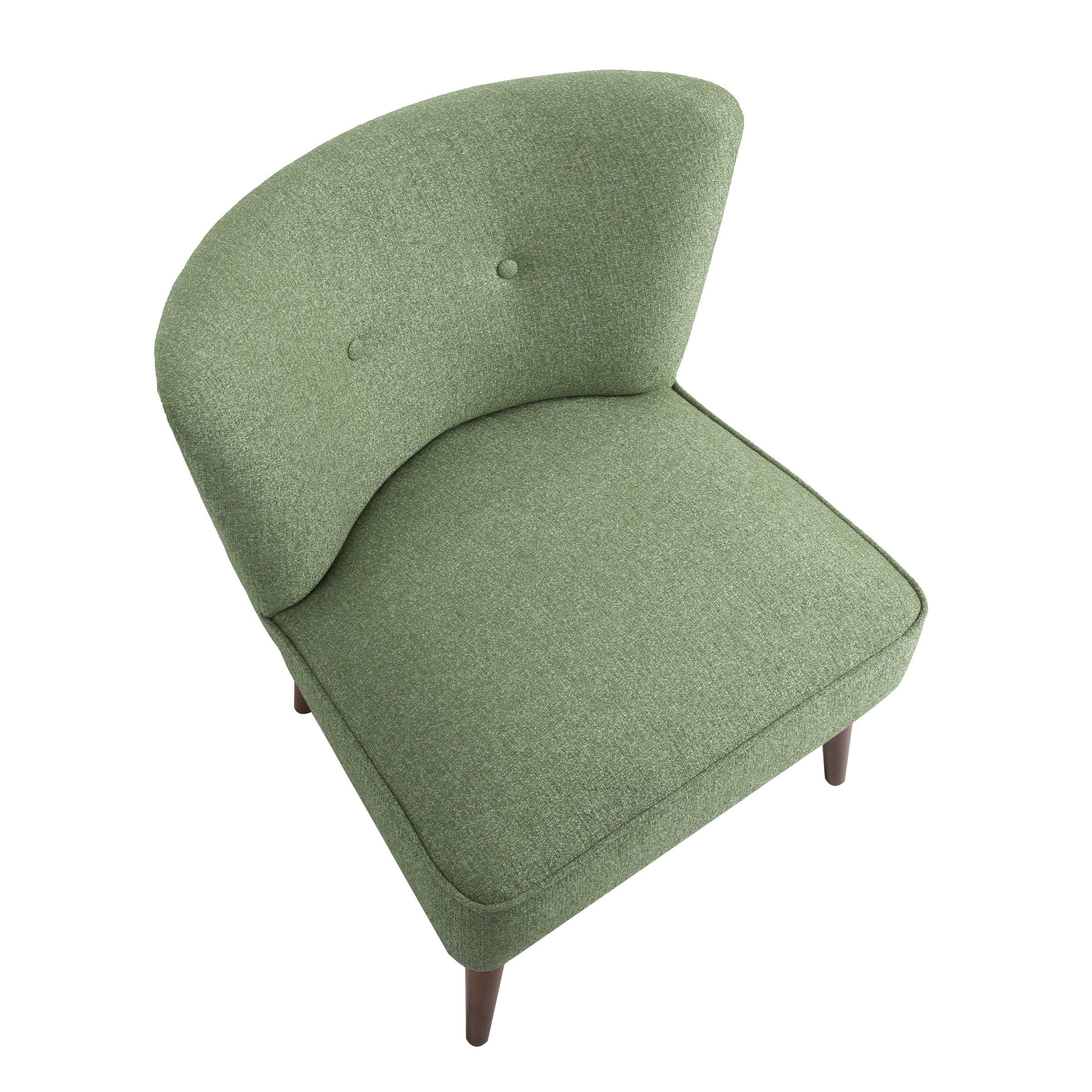 Shop Homepop Chadwick Armless Accent Chair – Teal – On Sale – Free Intended For Chadwick Gunmetal Swivel Chairs (View 8 of 25)