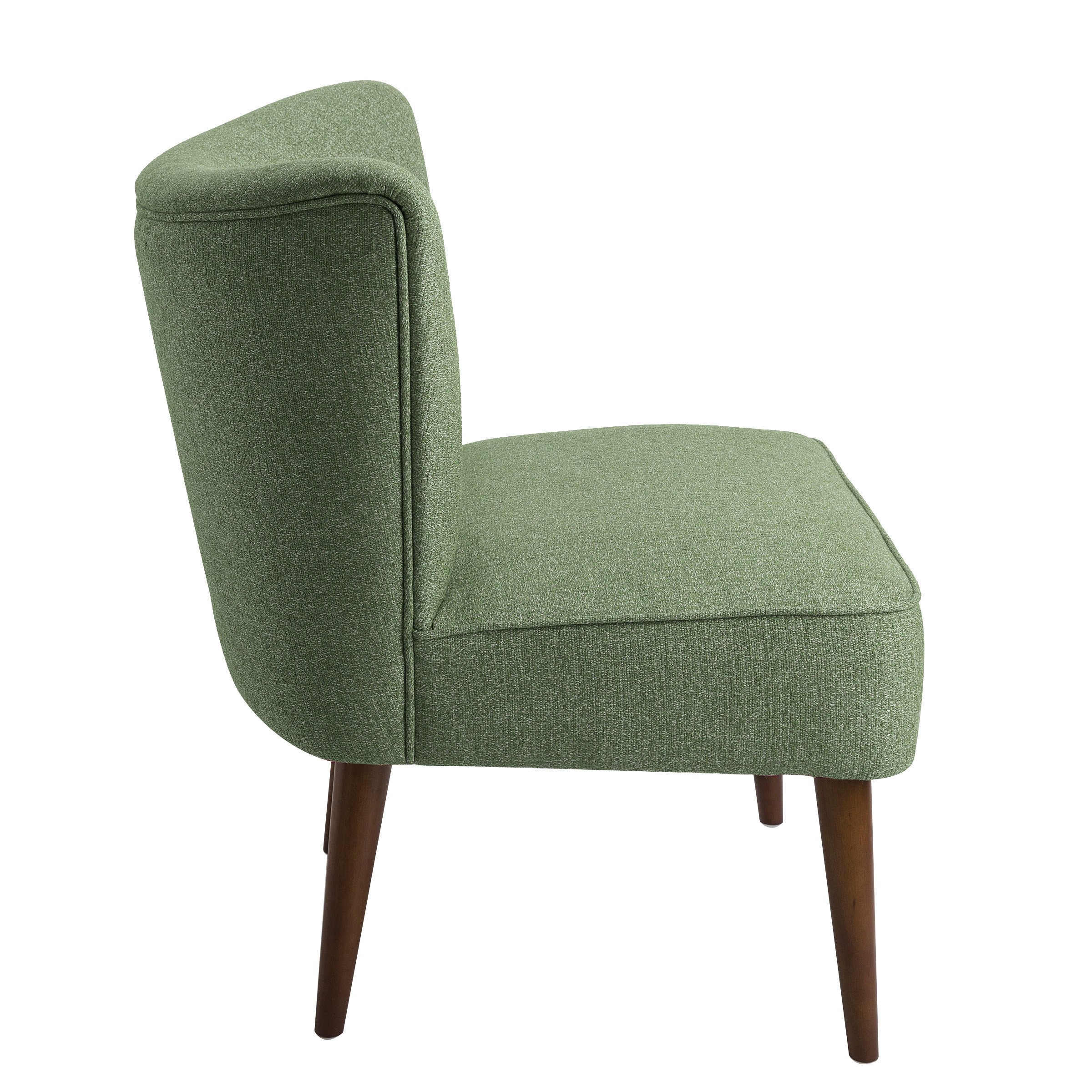 Shop Homepop Chadwick Armless Accent Chair – Teal – On Sale – Free Within Chadwick Gunmetal Swivel Chairs (View 3 of 25)