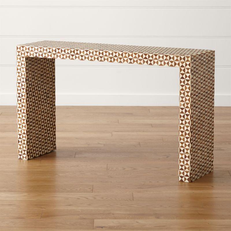 Shop Intarsia Natural Console Table (Image 21 of 25)