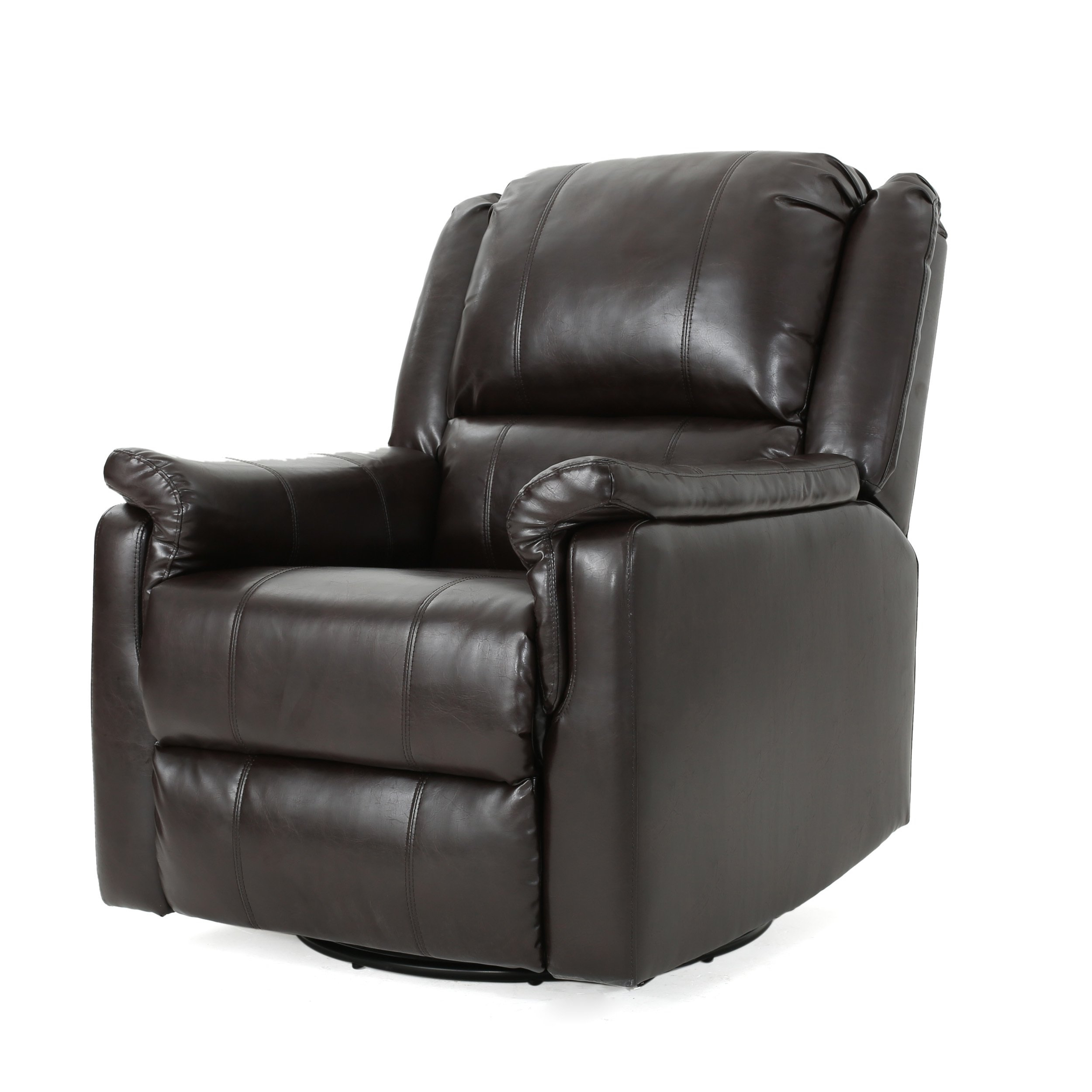 Shop Jennette Faux Leather Swivel Gliding Reclinerchristopher With Regard To Franco Iii Fabric Swivel Rocker Recliners (View 14 of 25)
