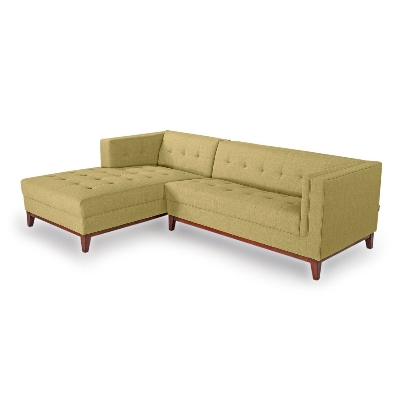 Shop Kardiel Harrison Mid Century Modern Twill Loft Sofa Left Chaise Intended For Loft Arm Sofa Chairs (Image 20 of 25)