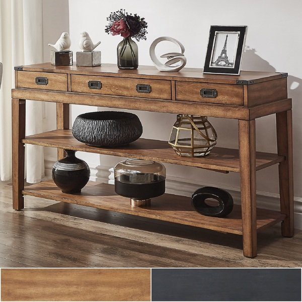 Shop Lonny 3 Drawer Wood Console Table Tv Standinspire Q Classic Pertaining To Trendy Marvin Rustic Natural 60 Inch Tv Stands (Image 17 of 25)