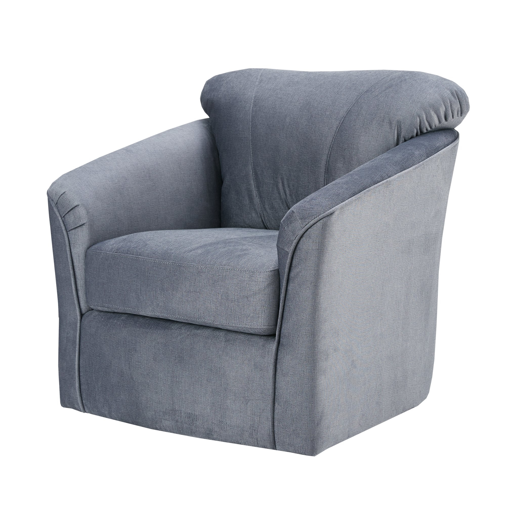 Shop Madison Park Elgin Grey Swivel Chair – Free Shipping Today For Grey Swivel Chairs (View 14 of 25)