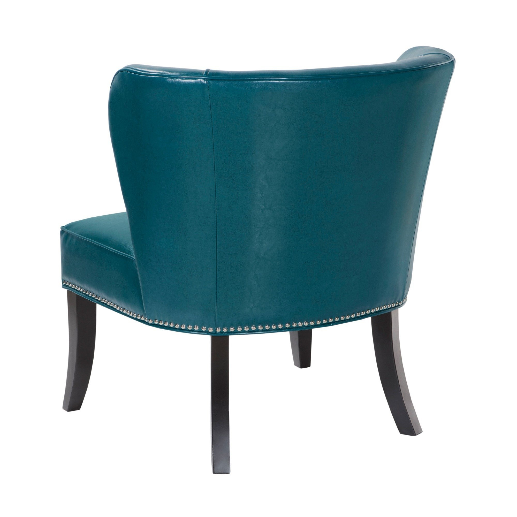 Shop Madison Park Sheldon Blue Concave Back Armless Chair – Free Within Sheldon Oversized Sofa Chairs (View 21 of 25)