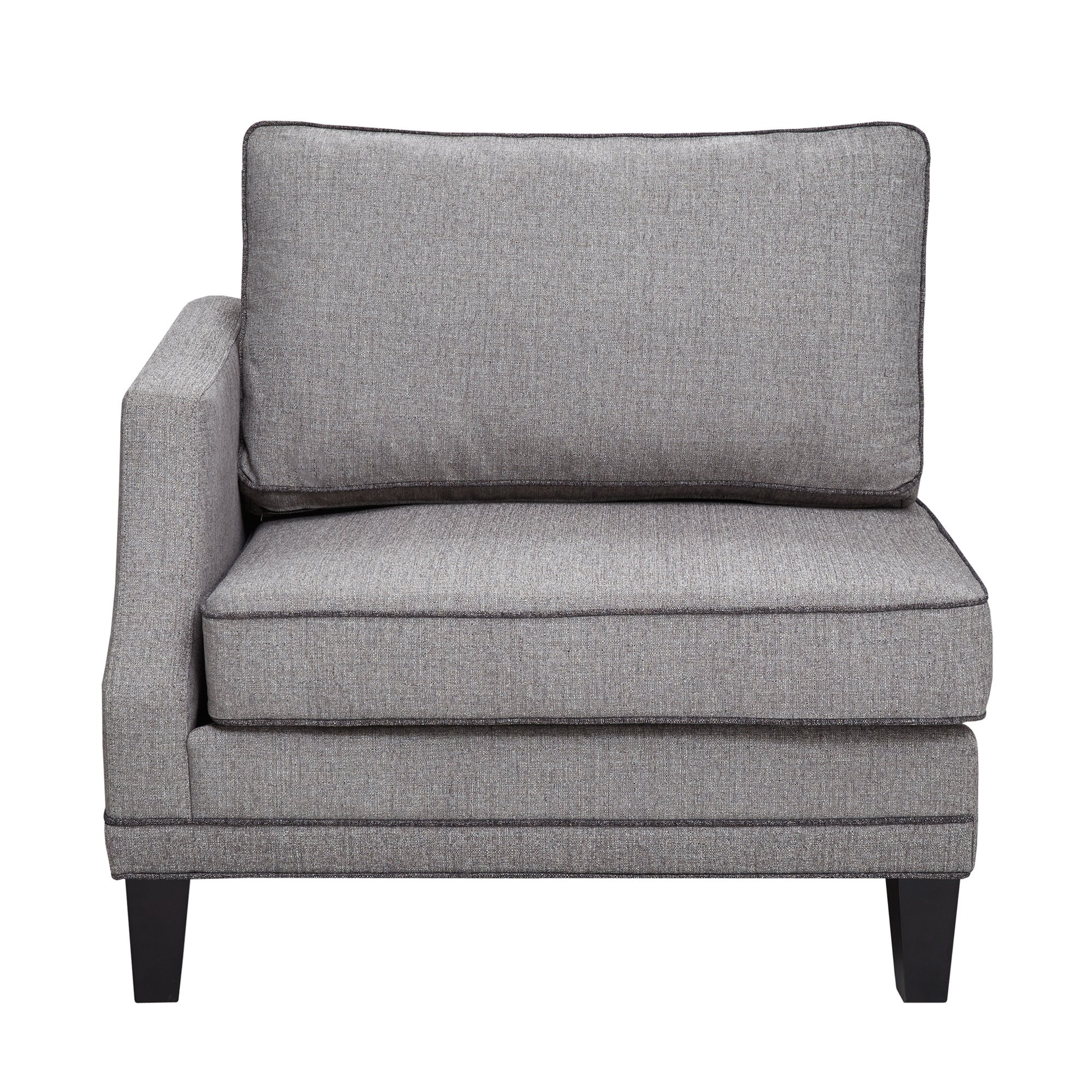 Shop Madison Park Signature Gordon Grey Modular Sectional Sofa Left inside Gordon Arm Sofa Chairs