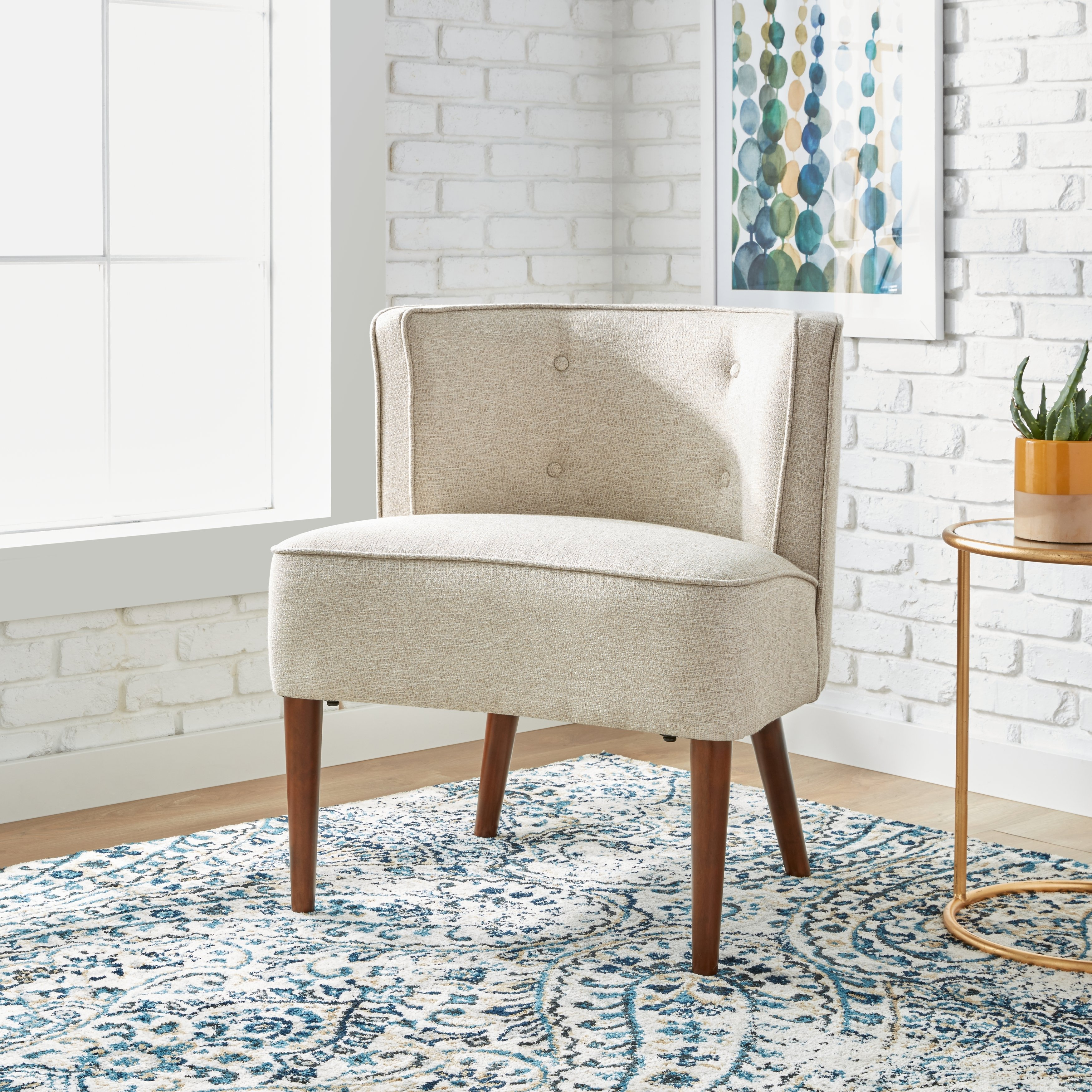 Shop Maison Rouge Sierra Off White Accent Chair – Free Shipping Throughout Sierra Foam Ii Oversized Sofa Chairs (View 20 of 25)
