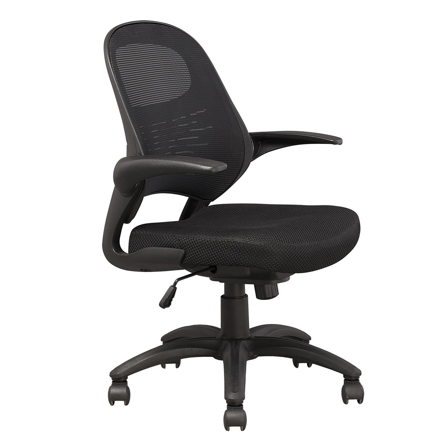 Shop Manhatta Comfort Mercer Black Mesh Office Chair (Set Of 2 With Mercer Foam Swivel Chairs (View 23 of 25)