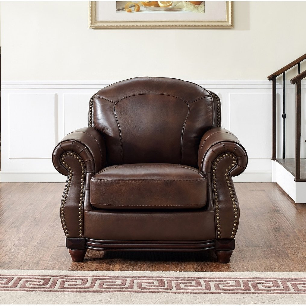 Shop Mesa Brown Leather Chair – On Sale – Free Shipping Today With Mesa Foam Oversized Sofa Chairs (Image 24 of 25)
