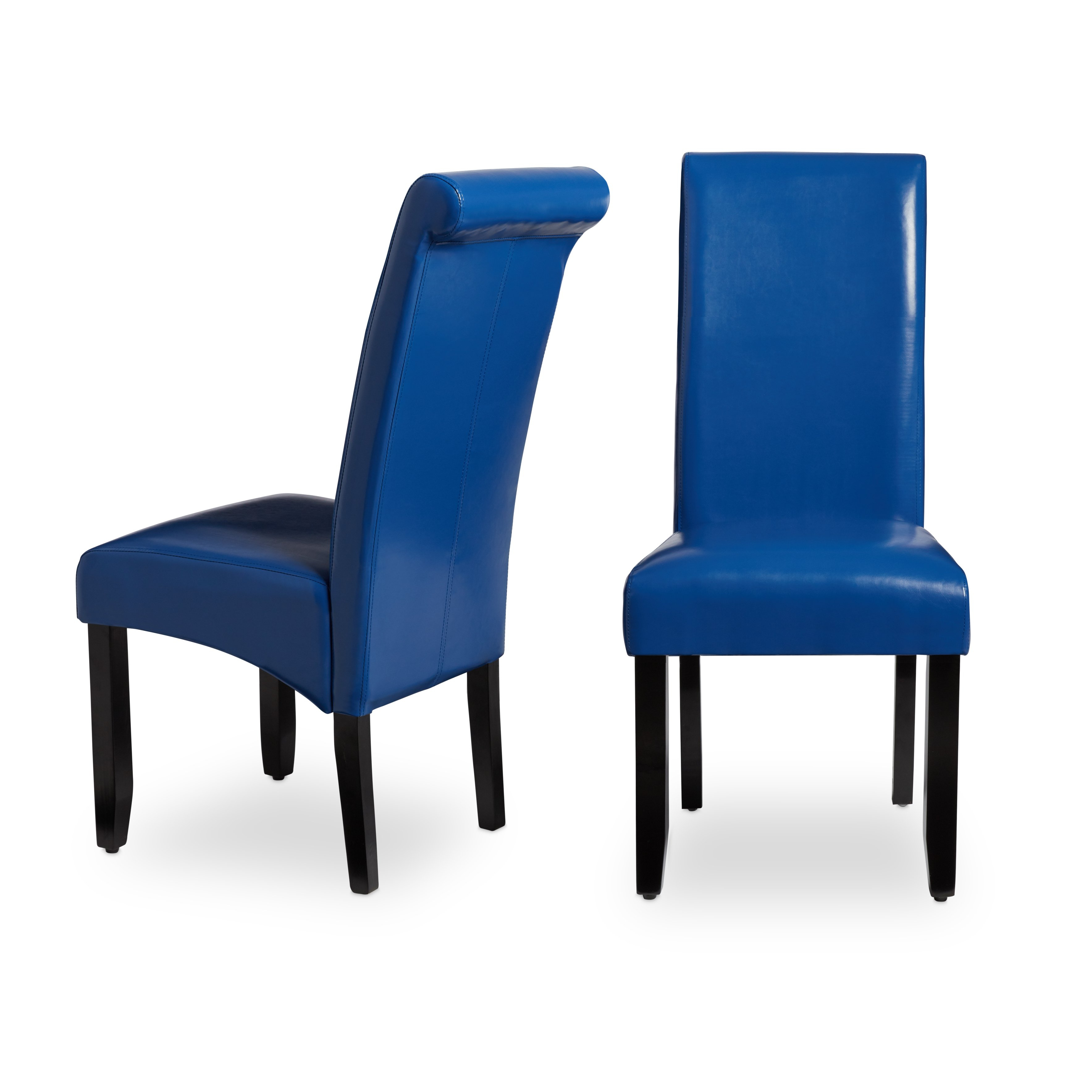 Shop Milan Faux Leather Dining Chairs (Set Of 2) – Free Shipping For Katrina Blue Swivel Glider Chairs (View 23 of 25)