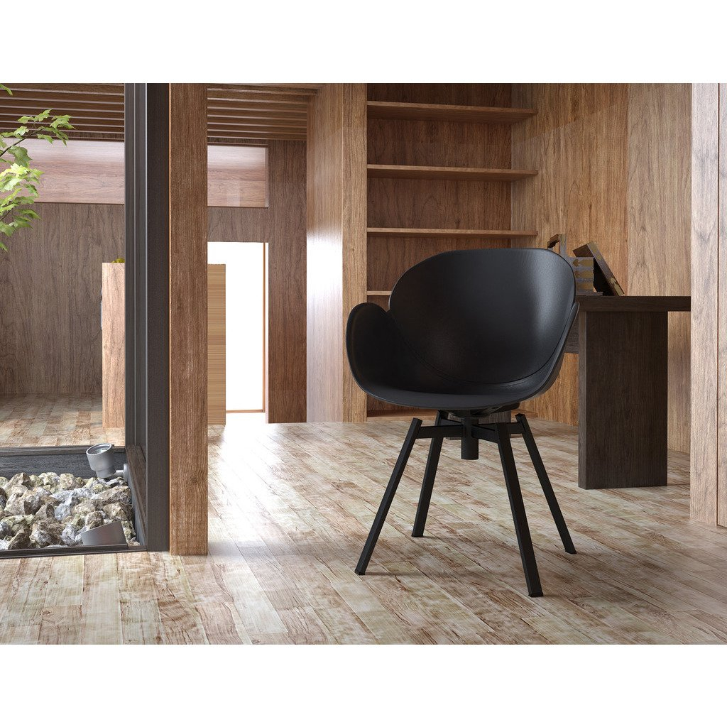Shop Modern Black 360 Degree Swivel Accent Chair (Set Of 2) – Free With Loft Black Swivel Accent Chairs (View 23 of 25)