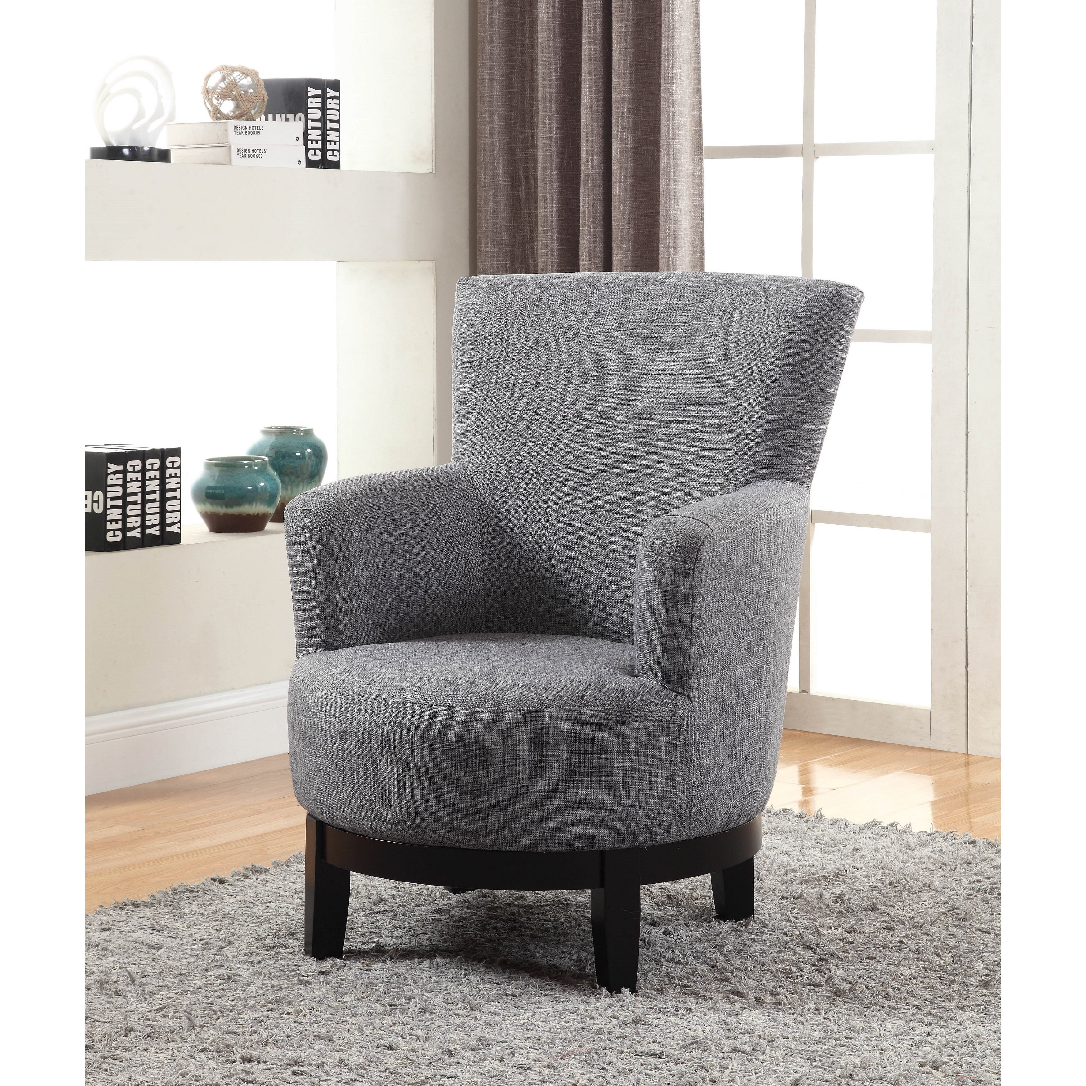 Shop Nathaniel Home Dominic Grey Swivel Accent Chair – Free Shipping Inside Umber Grey Swivel Accent Chairs (View 4 of 25)