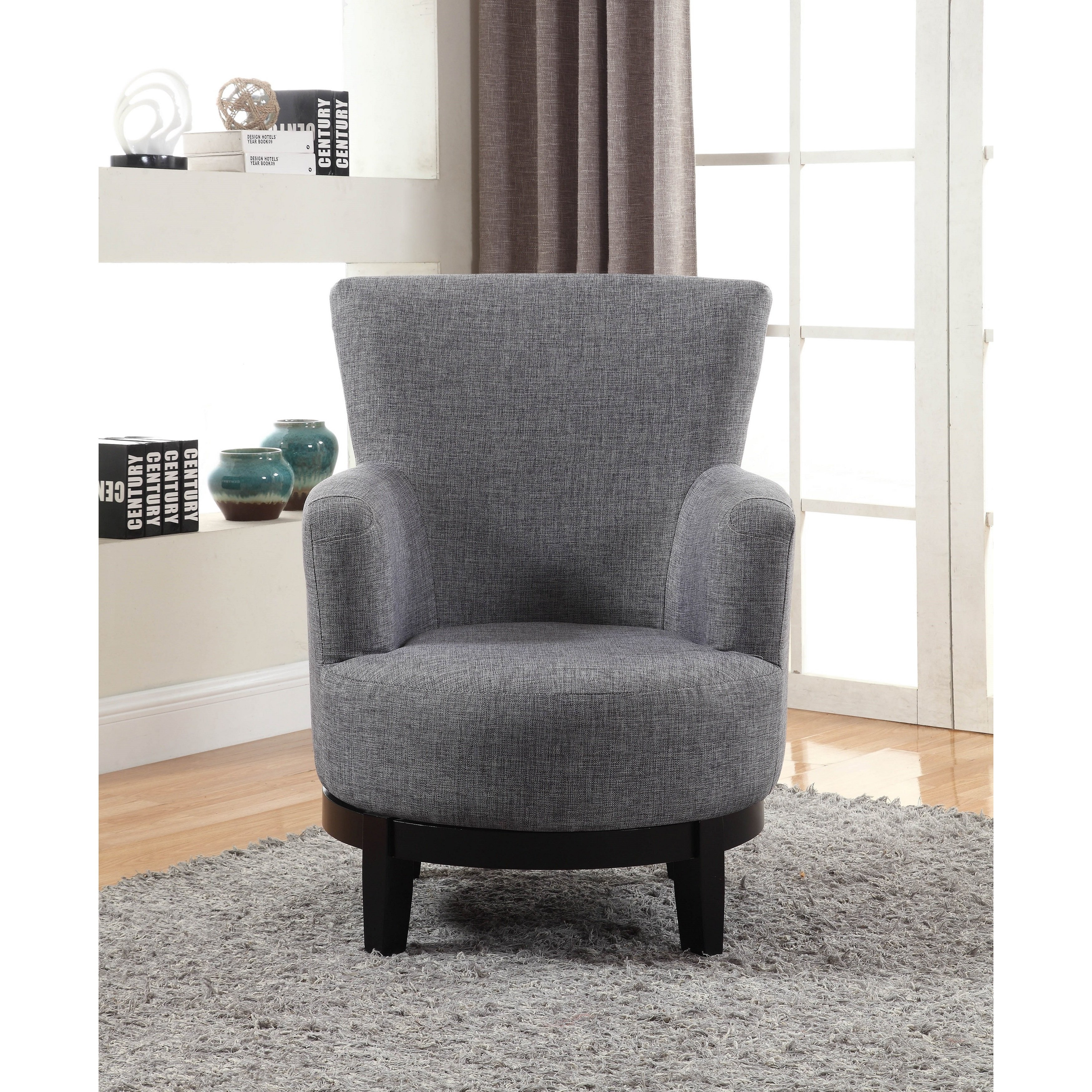 Shop Nathaniel Home Dominic Grey Swivel Accent Chair – Free Shipping Intended For Umber Grey Swivel Accent Chairs (View 6 of 25)