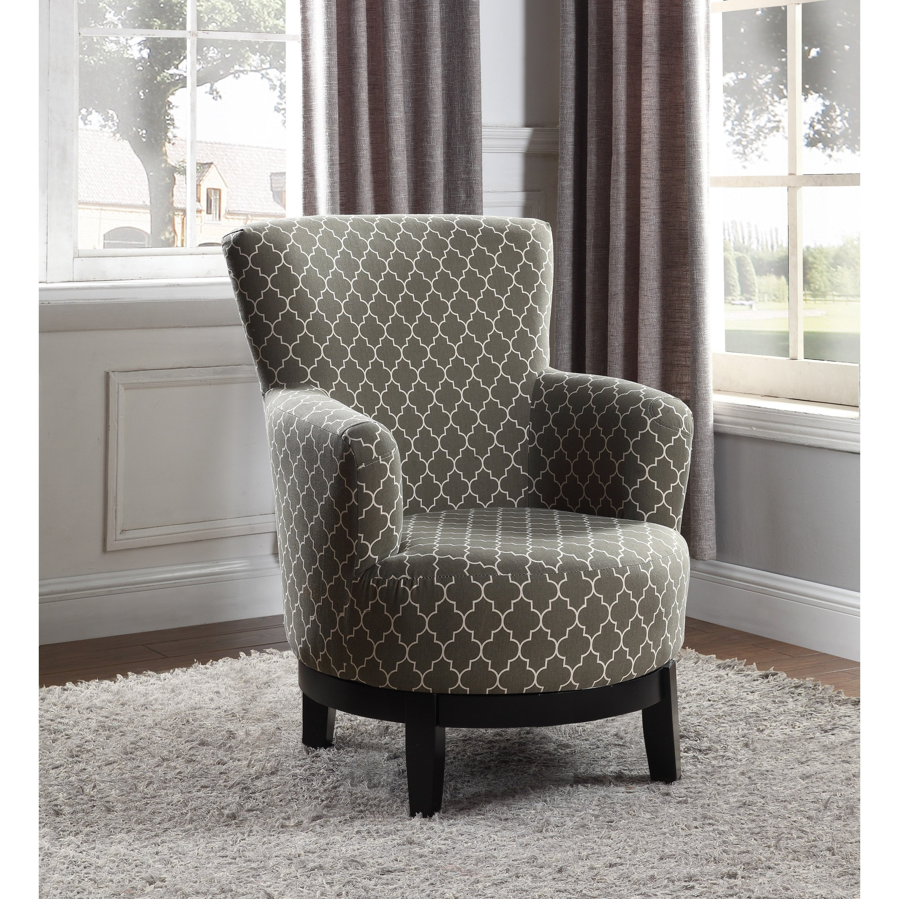 Shop Nathaniel Home London Swivel Accent Chair – Free Shipping Today Inside Umber Grey Swivel Accent Chairs (View 11 of 25)