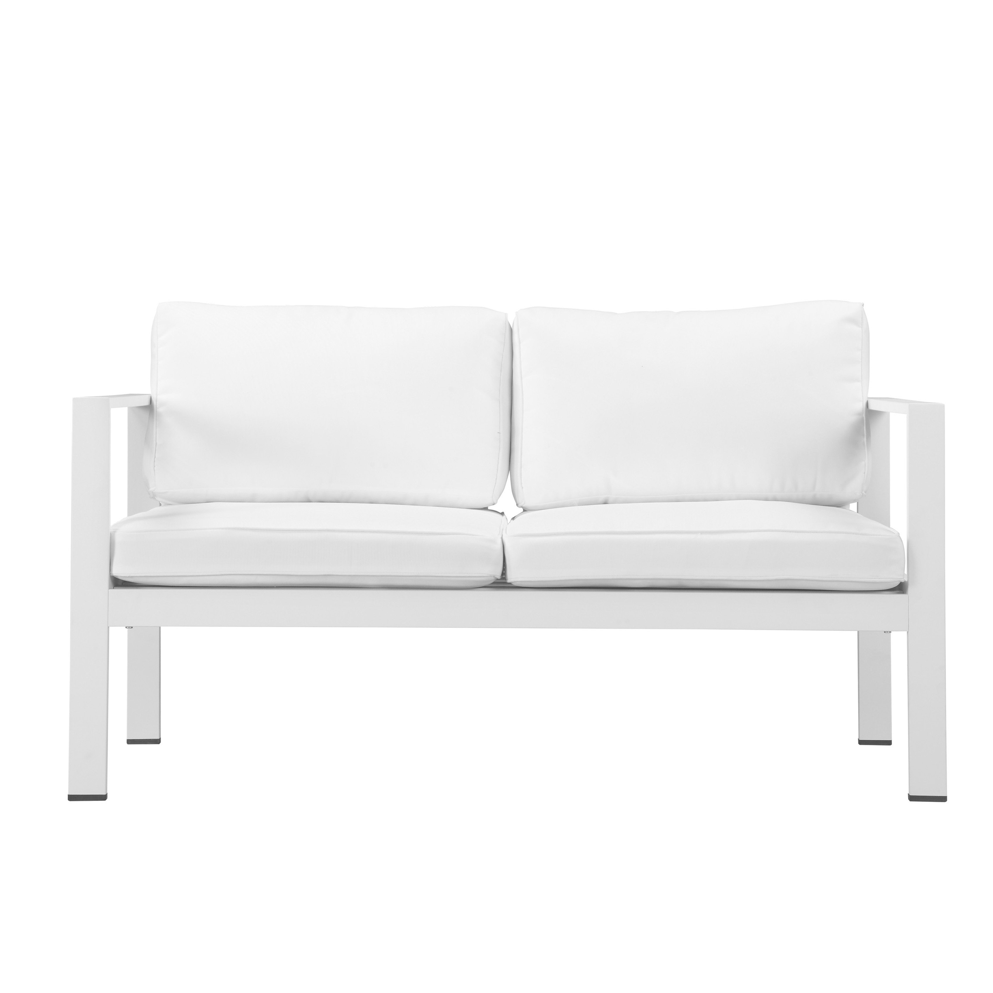 Shop Pangea Home Karen Fabric/ Aluminum 4 Piece Sofa Set – Free Pertaining To Karen Sofa Chairs (View 16 of 25)