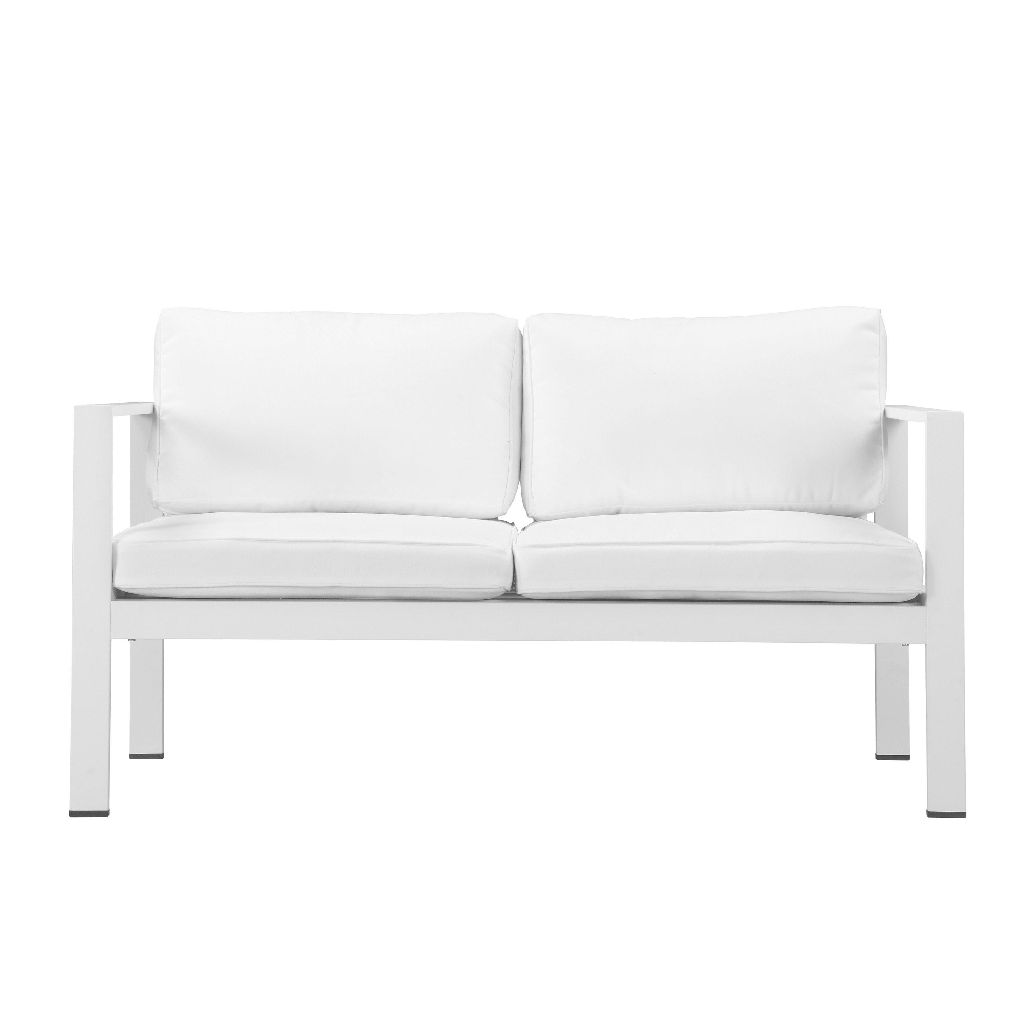 Shop Pangea Home Karen Fabric/ Aluminum 4 Piece Sofa Set – Free Pertaining To Karen Sofa Chairs (Image 25 of 25)