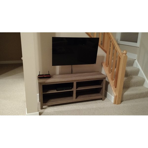 Shop Porch & Den Dexter 58 Inch Driftwood Tv Stand – Free Shipping Inside Most Recently Released Abbott Driftwood 60 Inch Tv Stands (Image 19 of 25)