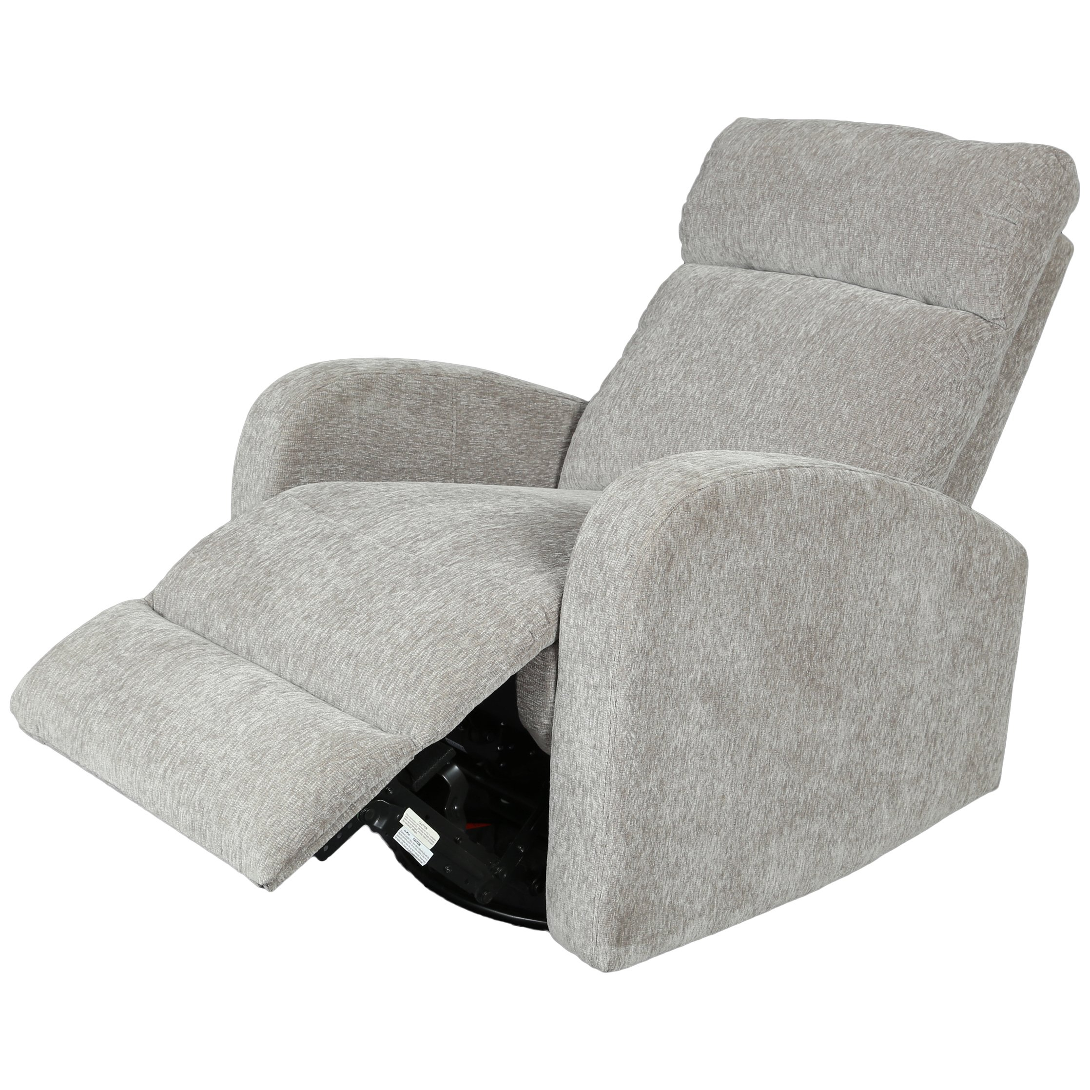 Shop Porter Glenn Grey Chenille Wireless Power Swivel Rocking In Gannon Linen Power Swivel Recliners (View 19 of 25)