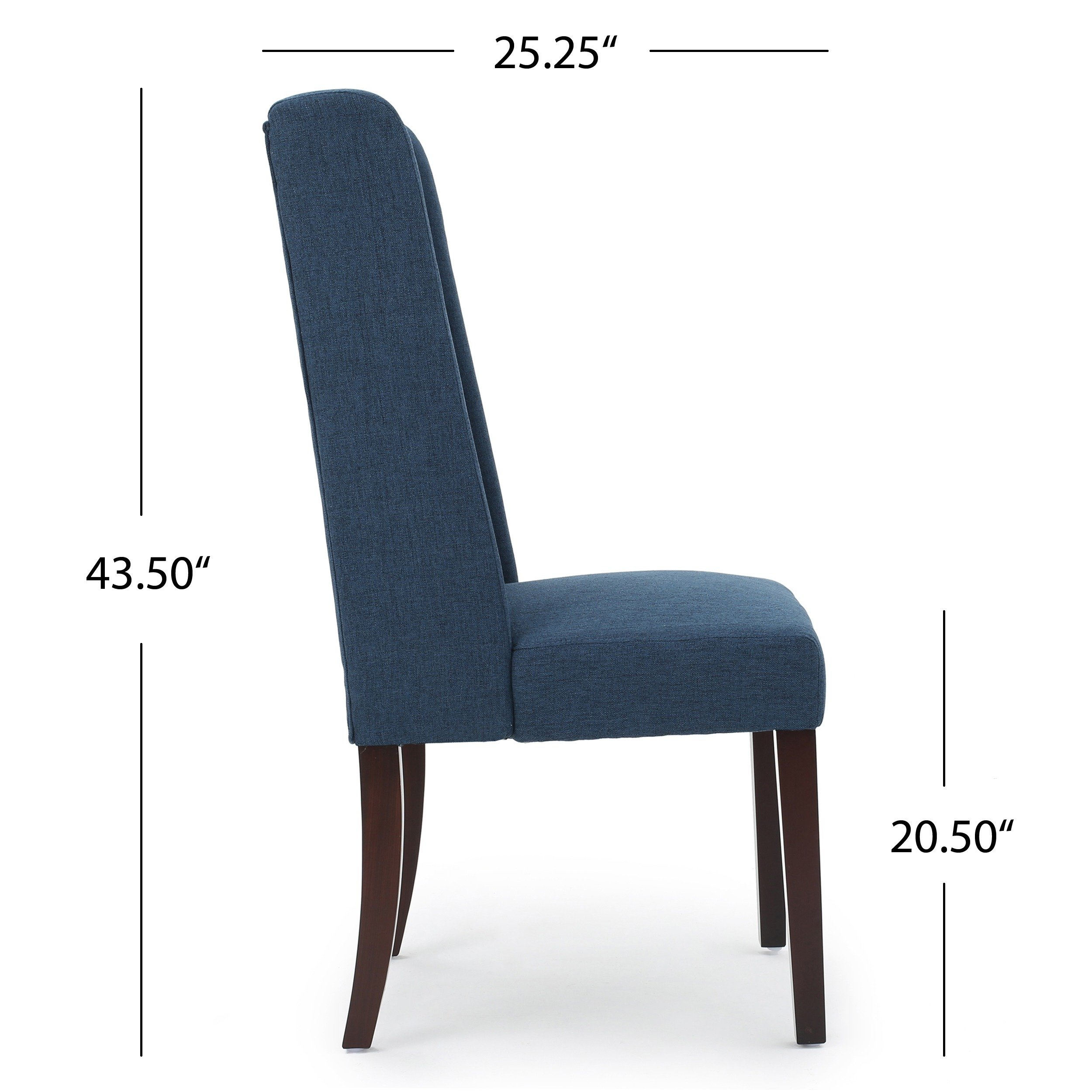 Shop Rory Wing Back Fabric Dining Chair (Set Of 2)Christopher Within Rory Sofa Chairs (View 22 of 25)