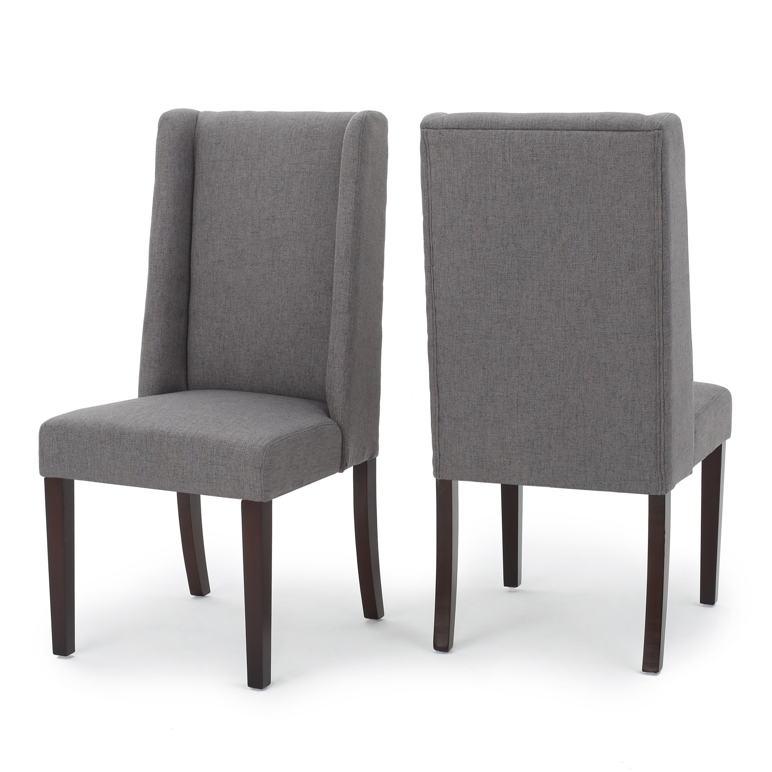 Shop Rory Wing Back Fabric Dining Chair (Set Of 2)Christopher Within Rory Sofa Chairs (Image 24 of 25)