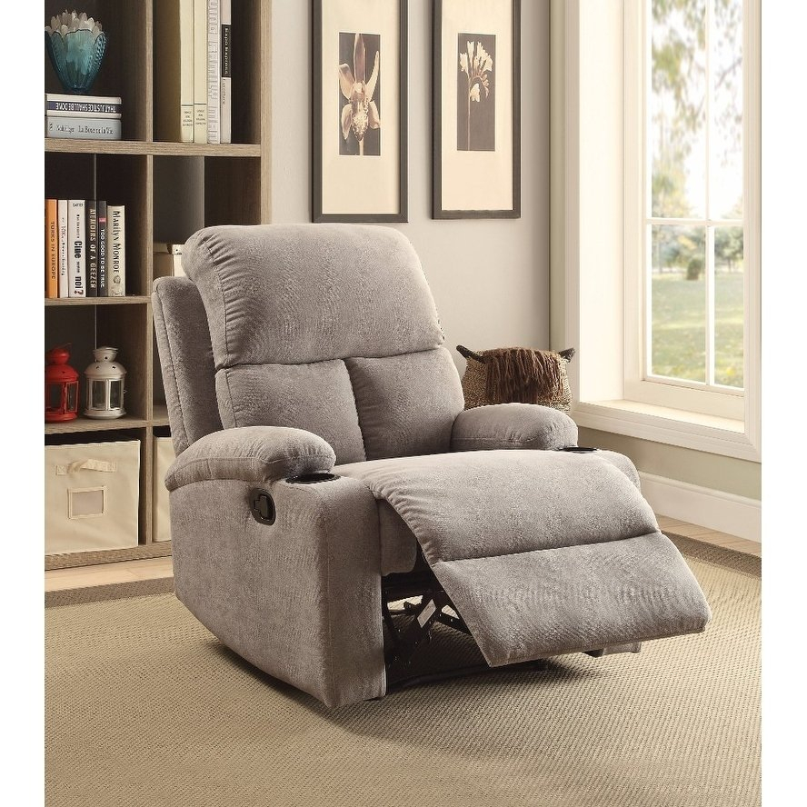 Shop Rosia Homely Recliner , Gray Linen – Free Shipping Today Regarding Gannon Linen Power Swivel Recliners (View 20 of 25)