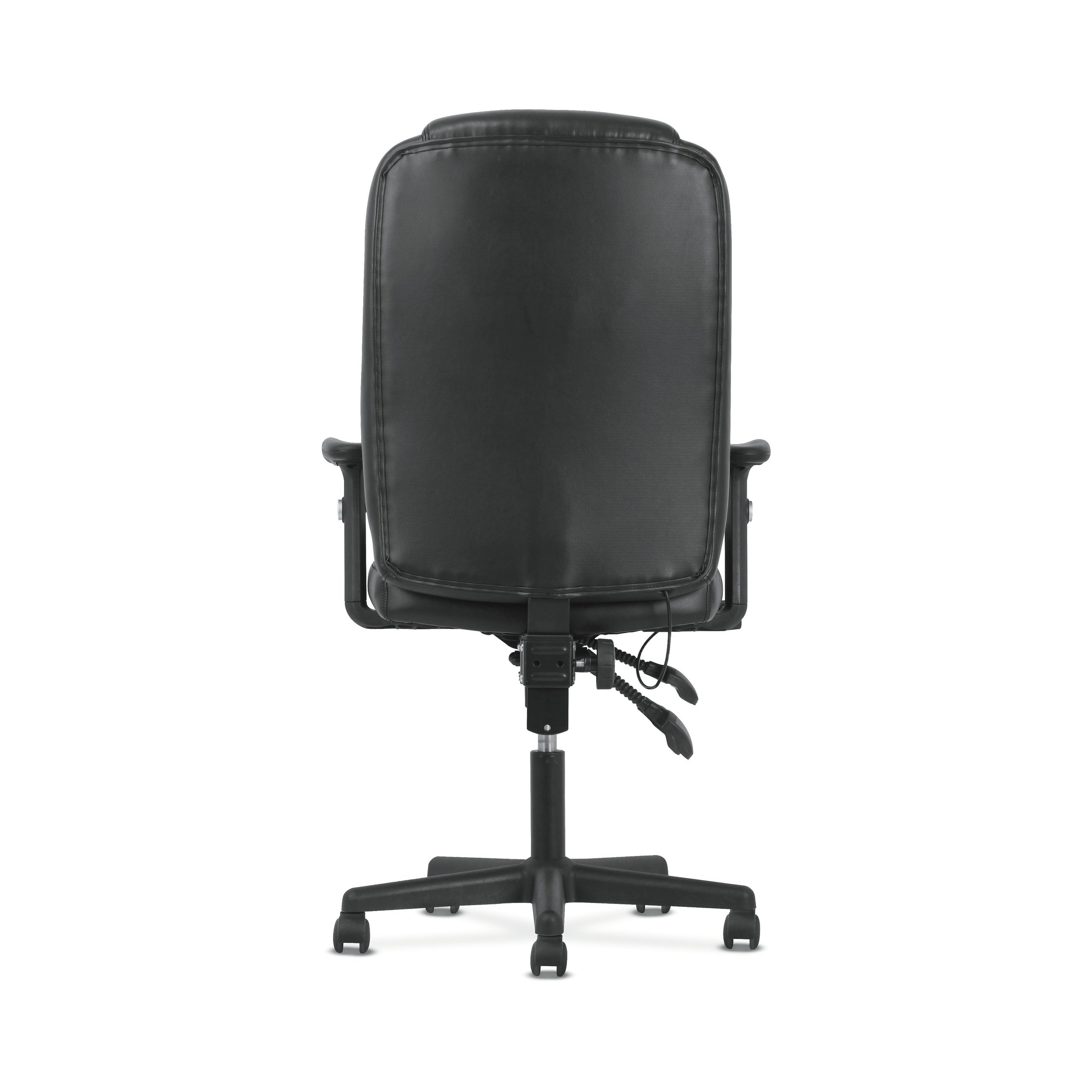 Shop Sadie Black Softhread Leather High Back Adjustable Swivel In Sadie Ii Swivel Accent Chairs (View 14 of 25)
