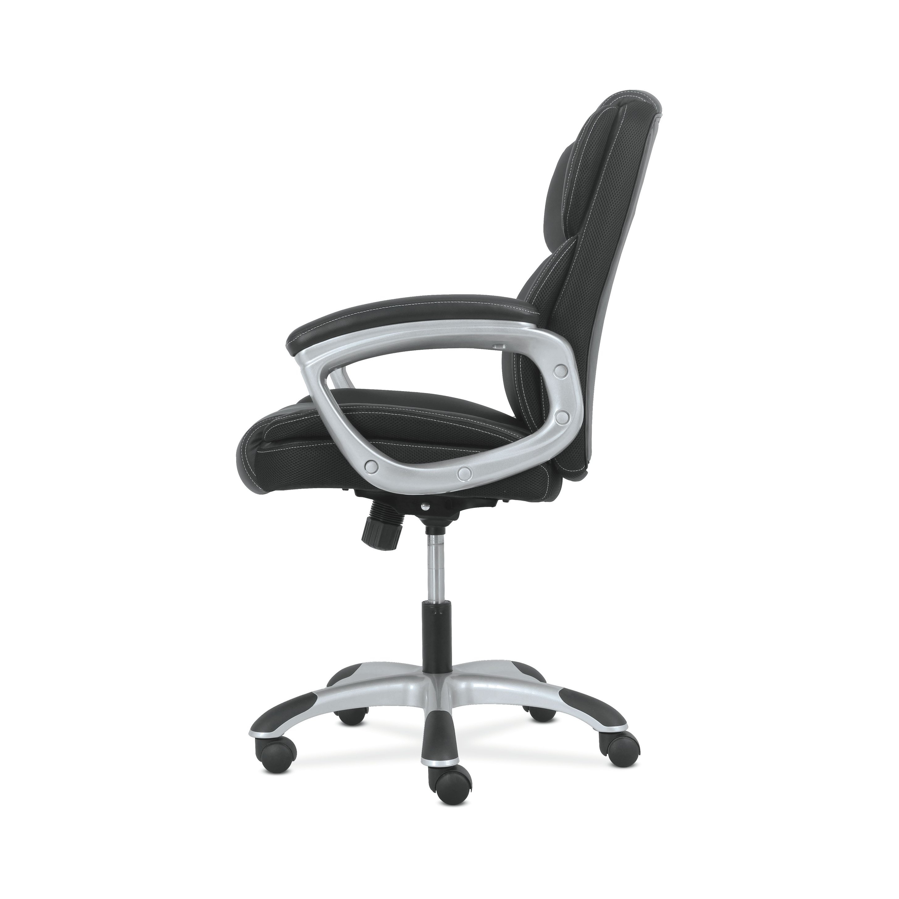 Shop Sadie Leather Executive Computer/office Chair With Arms Throughout Sadie Ii Swivel Accent Chairs (View 15 of 25)
