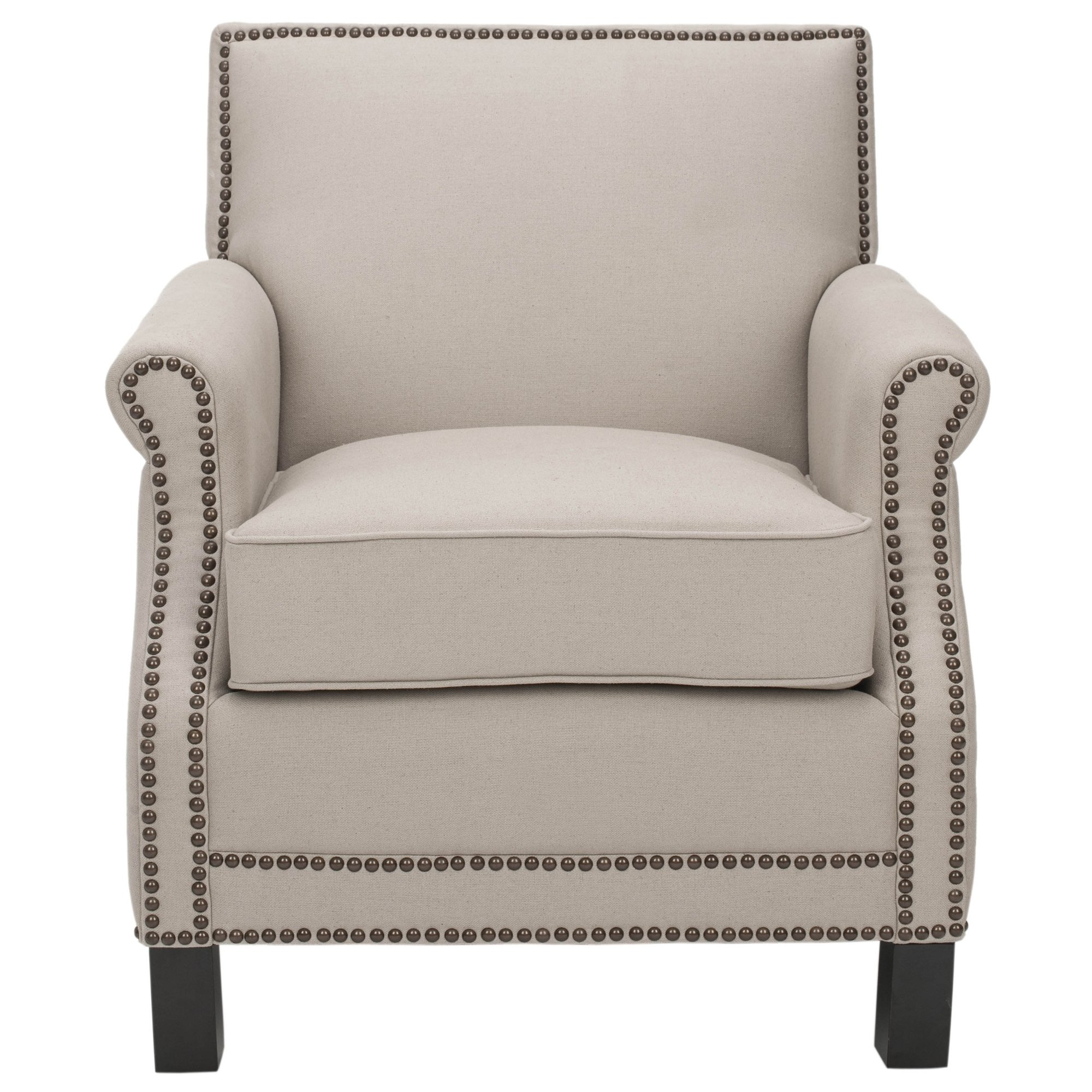 Shop Safavieh Mansfield Beige Club Chair – Free Shipping Today With Mansfield Beige Linen Sofa Chairs (Image 23 of 25)