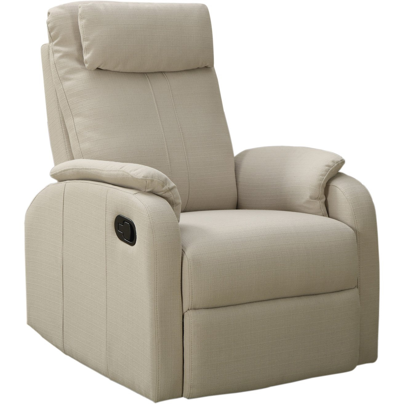 Shop Sand Linen Fabric Swivel Rocker Recliner – Free Shipping Today In Gannon Linen Power Swivel Recliners (View 17 of 25)