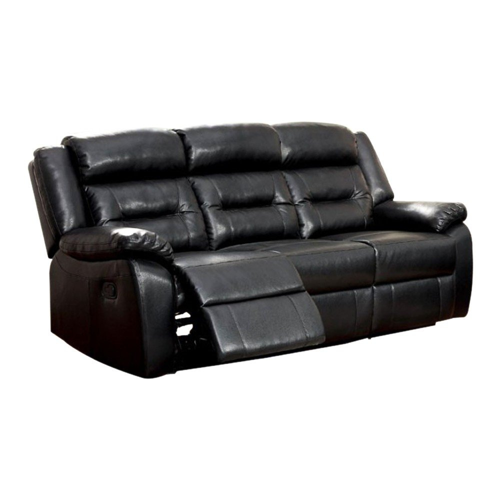 Shop Sheldon Motion Sofa With Black Bonded Leather Match – Free Intended For Sheldon Oversized Sofa Chairs (View 6 of 25)