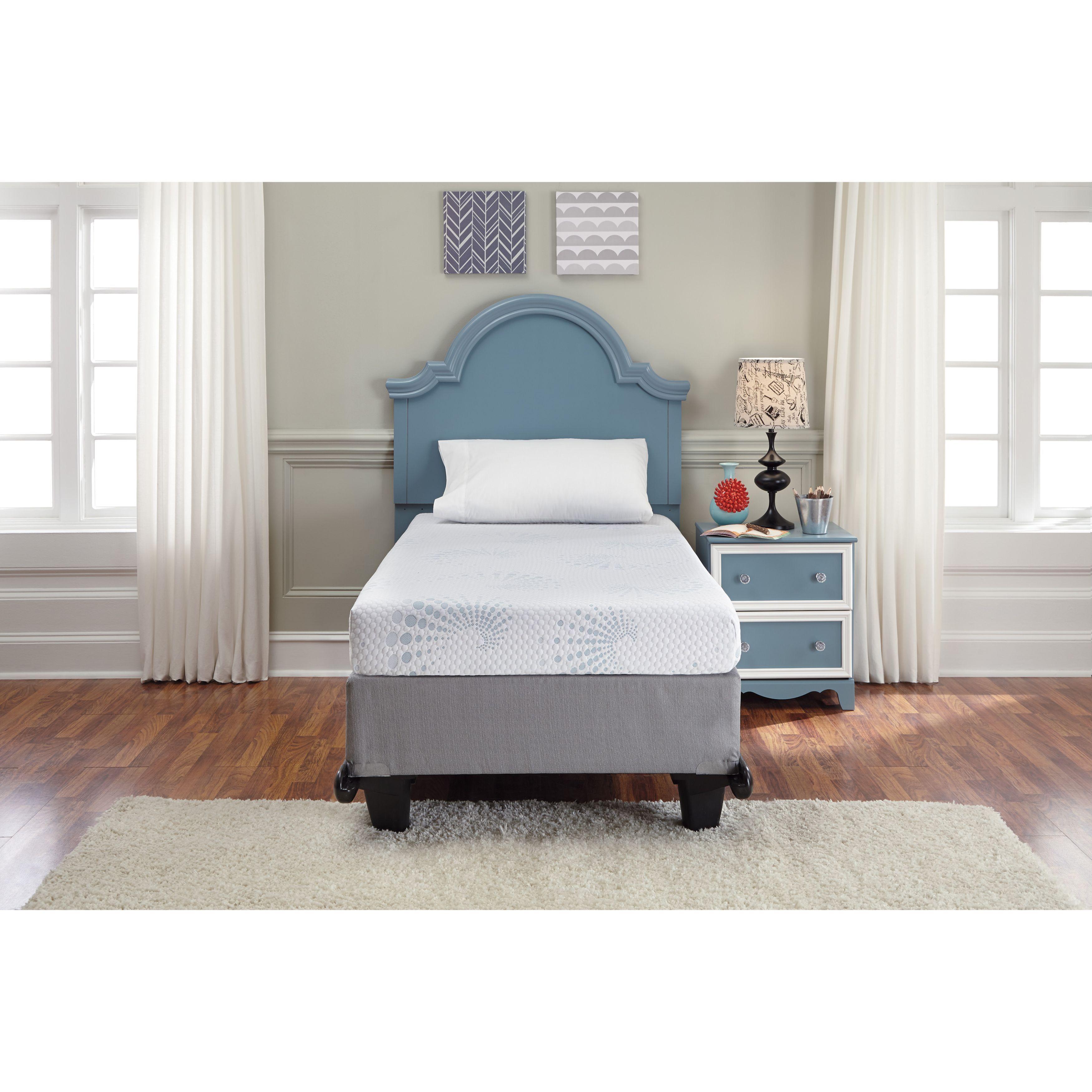 Shop Sierra Sleepashley White 7 Inch Full Size Memory Foam With Sierra Foam Ii Oversized Sofa Chairs (View 24 of 25)