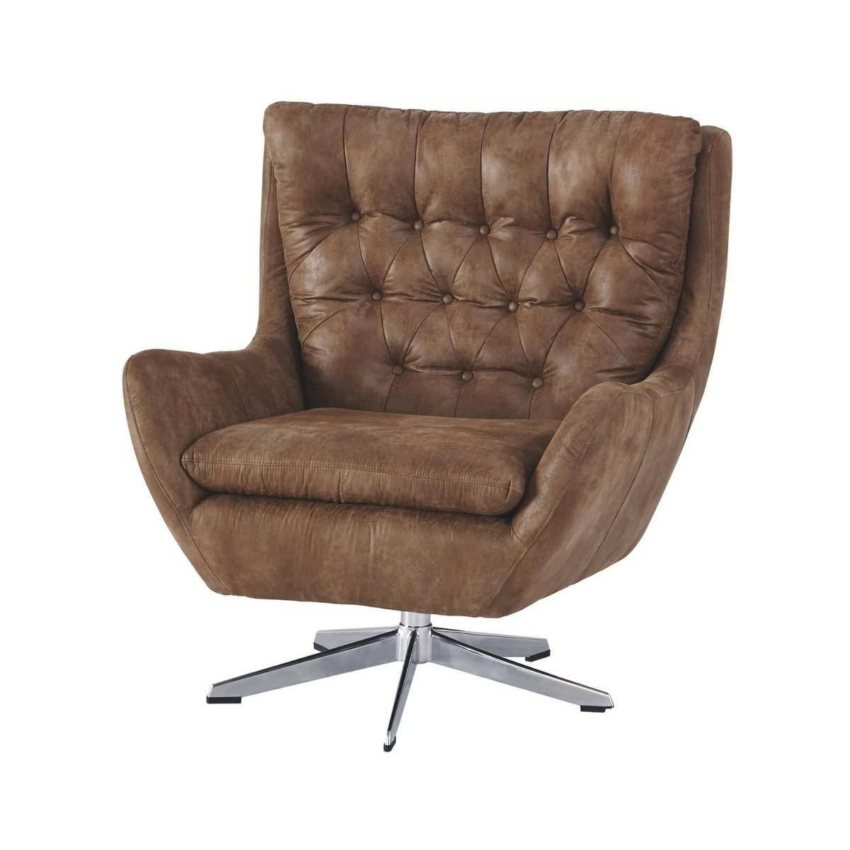 Shop Signature Designashley Velburg Swivel Accent Chair – Free Throughout Devon Ii Swivel Accent Chairs (View 6 of 25)