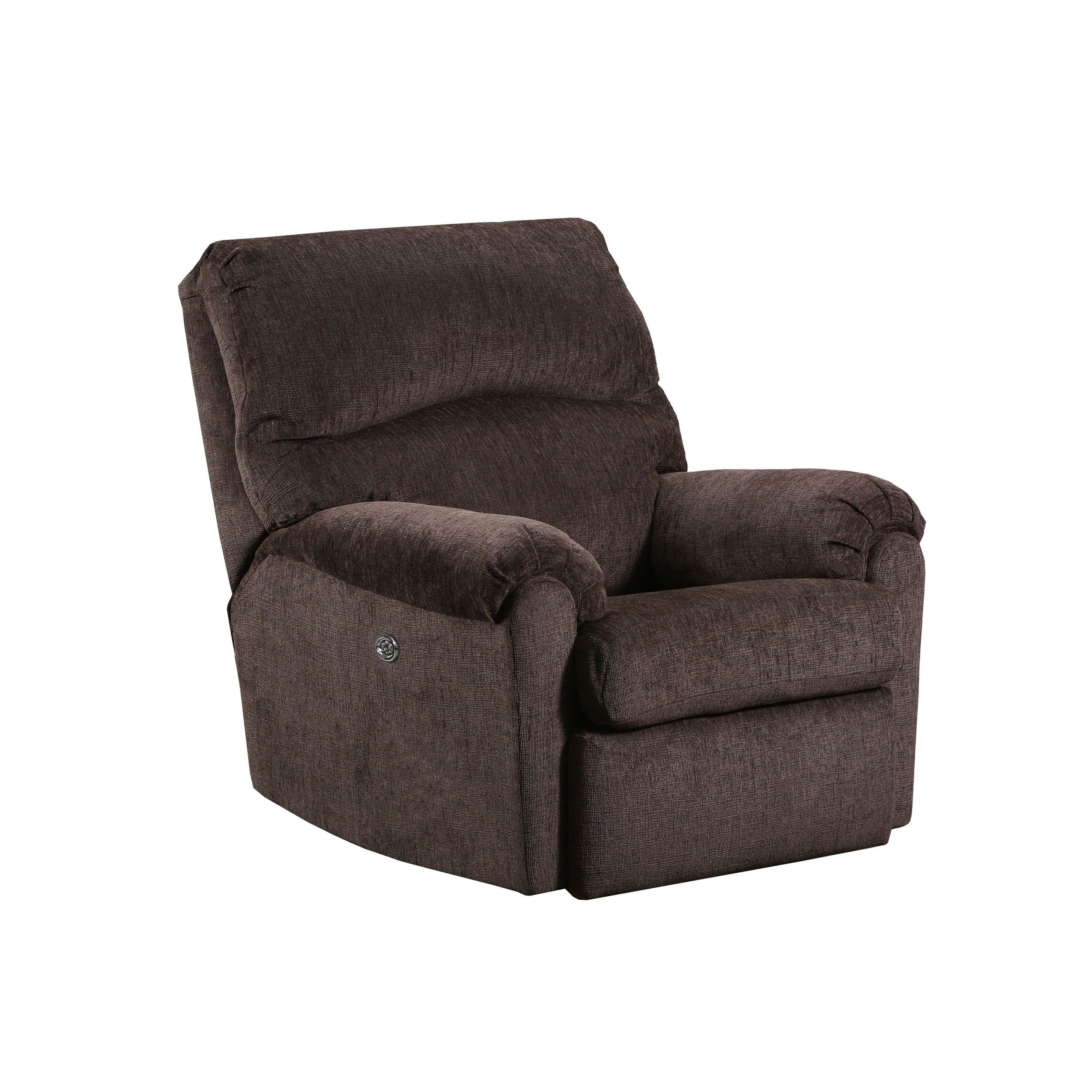 Shop Simmons Upholstery Elan Coffee Power Recliner – Ships To Canada Pertaining To Gannon Linen Power Swivel Recliners (View 13 of 25)