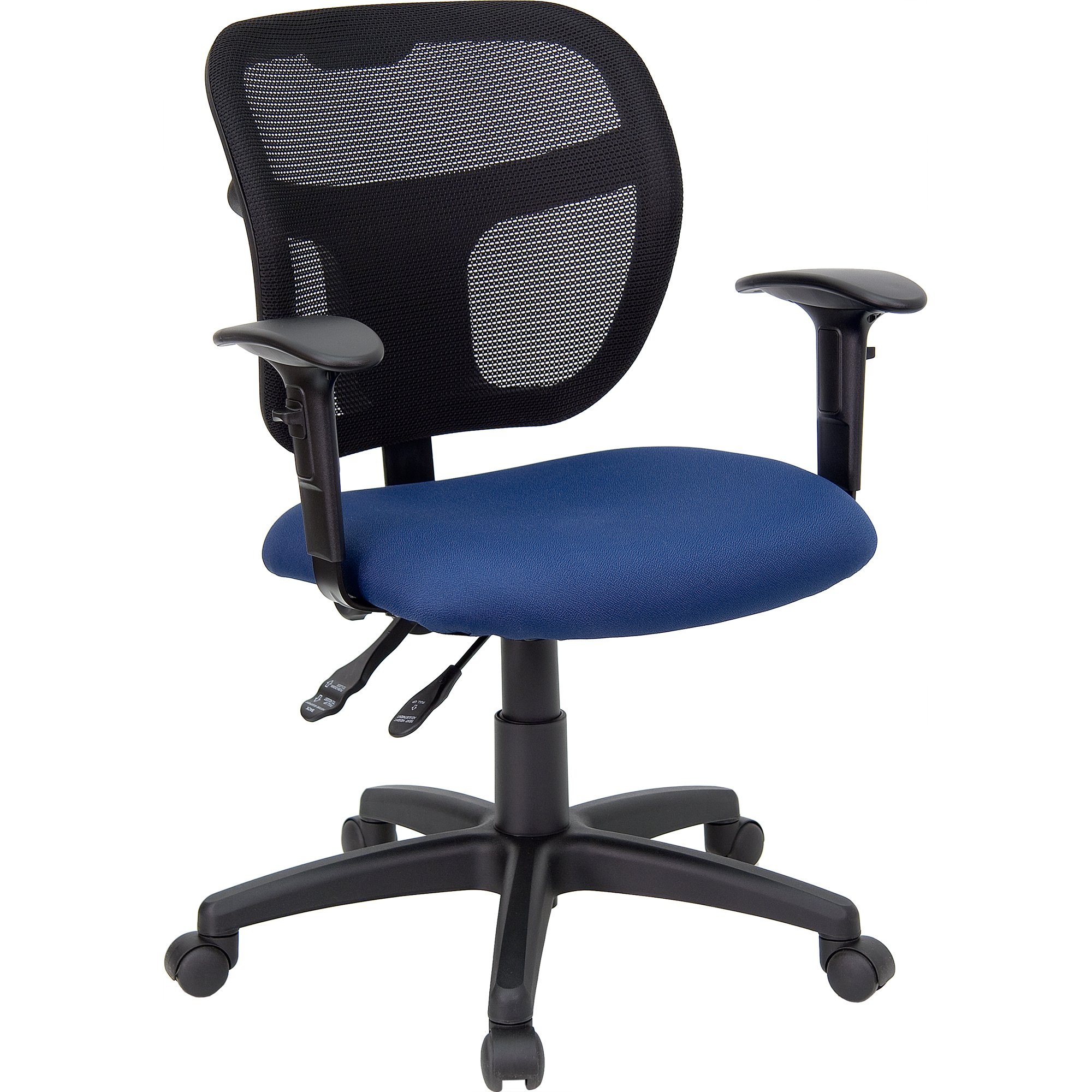 Shop Theo Mesh Dual Paddle Control Adjustable Swivel Ergonomic Regarding Theo Ii Swivel Chairs (Image 19 of 25)