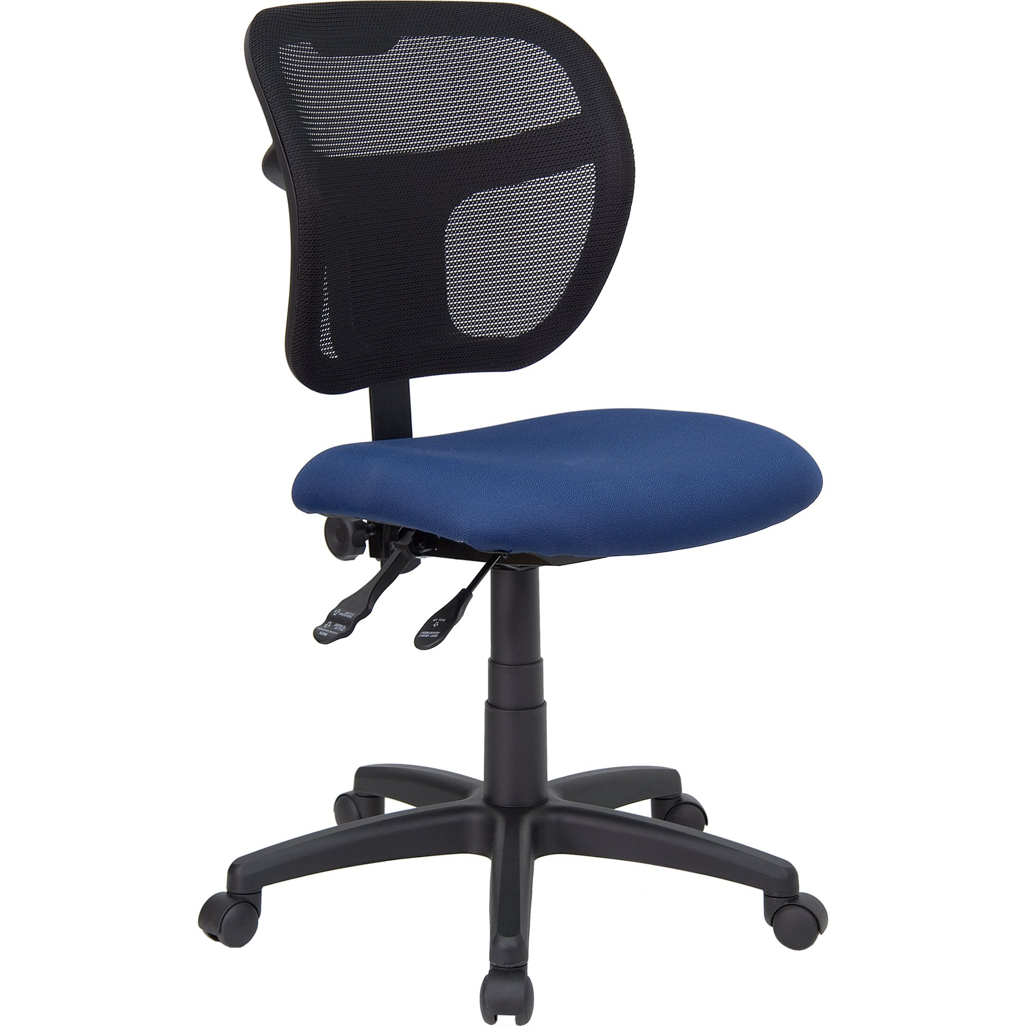 Shop Theo Mesh Dual Paddle Control Swivel Adjustable Armless Throughout Theo Ii Swivel Chairs (View 11 of 25)